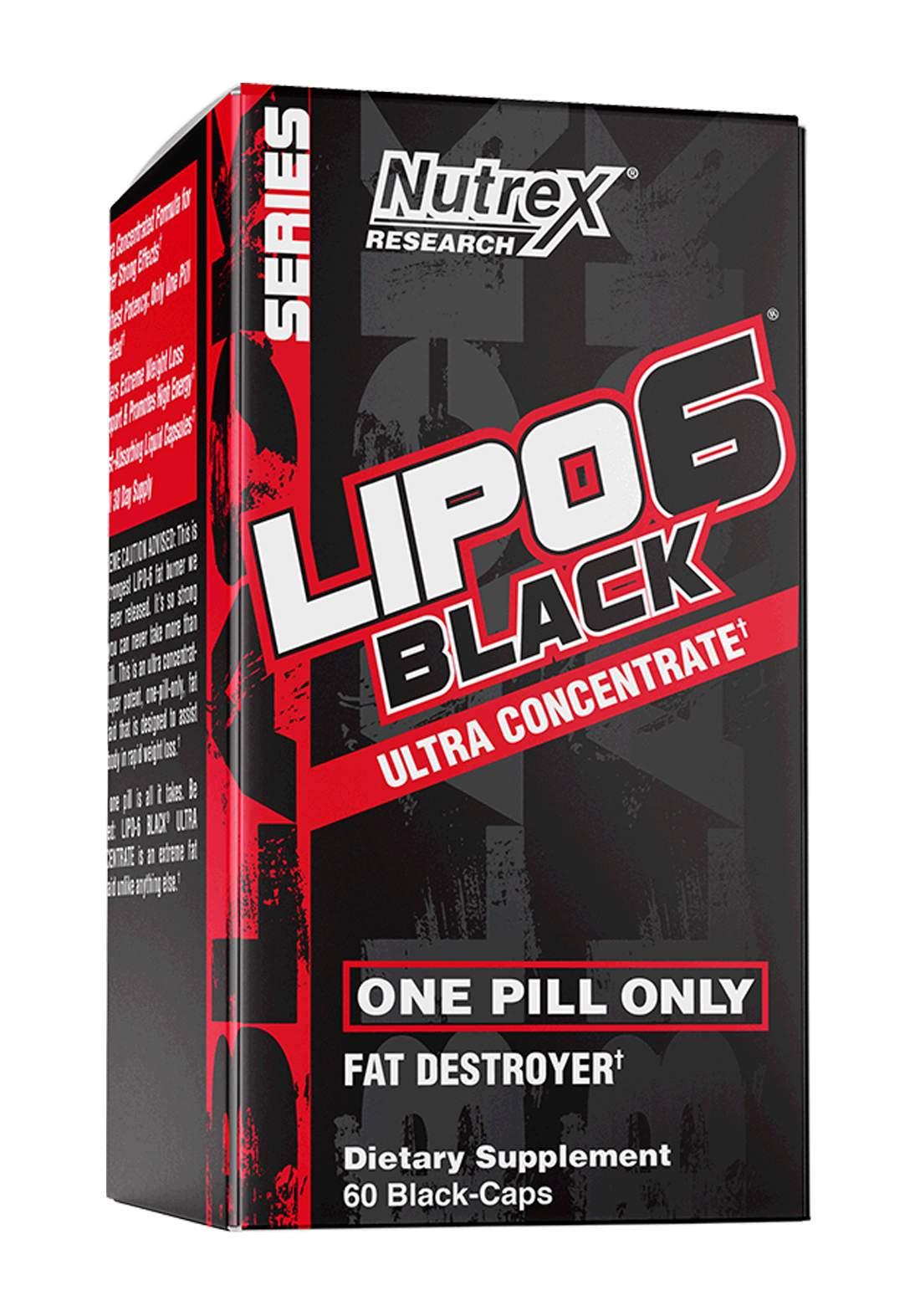 Nutrex Lipo 6 Black 60 Capsules 295mg  مكمل غذائي  حارق للدهون