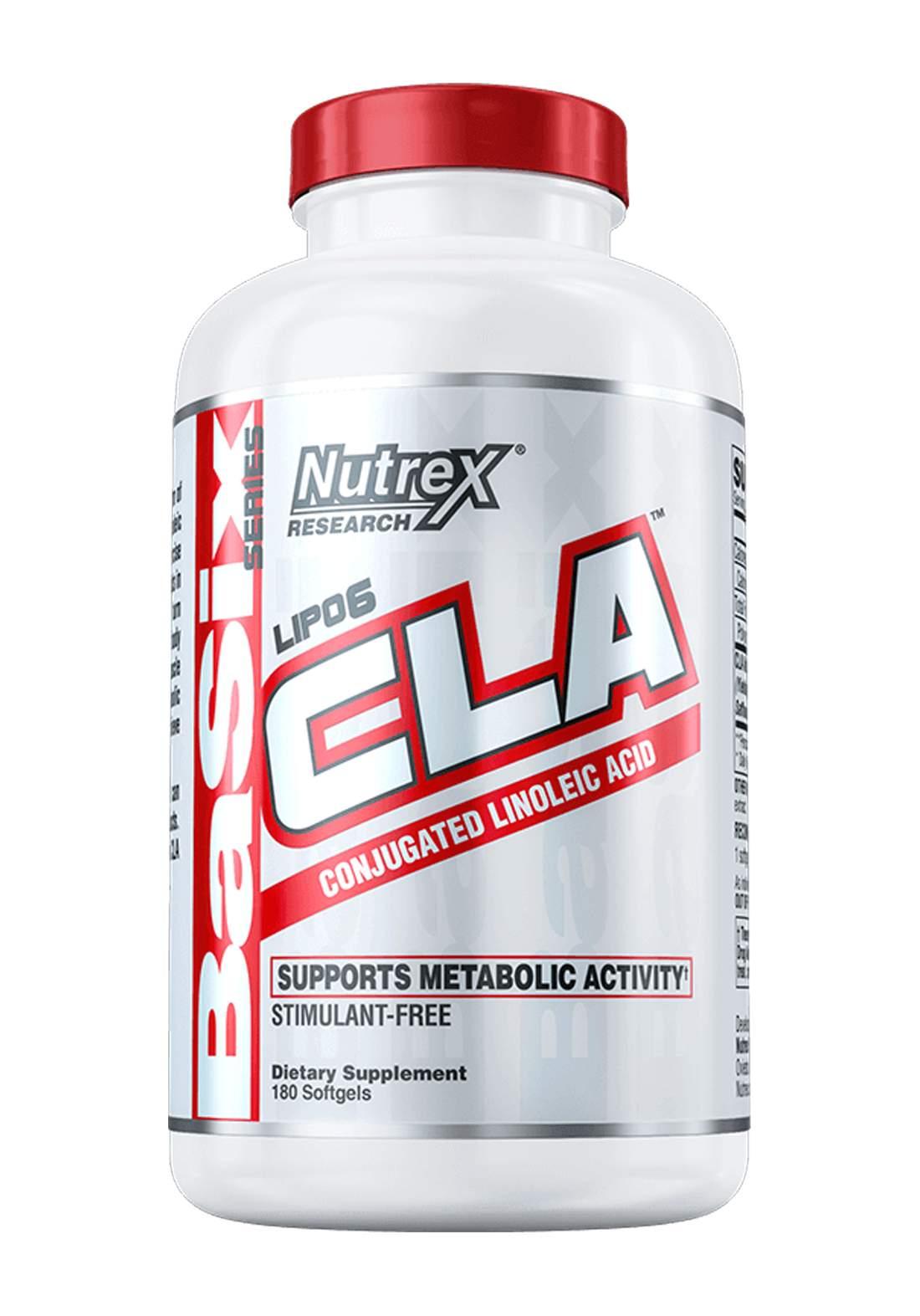 Nutrex Lipo 6  CLA Conjugated Linoleic Acid 180 Soft Gel 1000mg   مكمل غذائي لانقاص الوزن