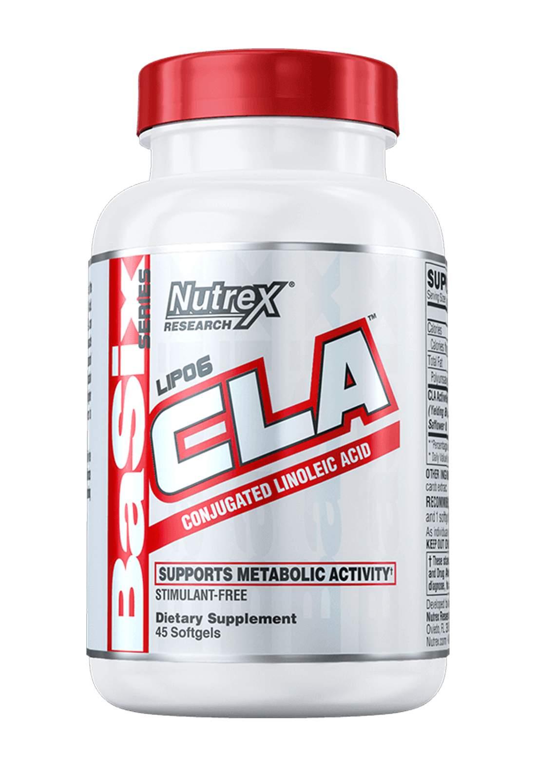Nutrex Lipo 6  CLA Conjugated Linoleic Acid 45 Soft Gel 1000mg   مكمل غذائي لانقاص الوزن
