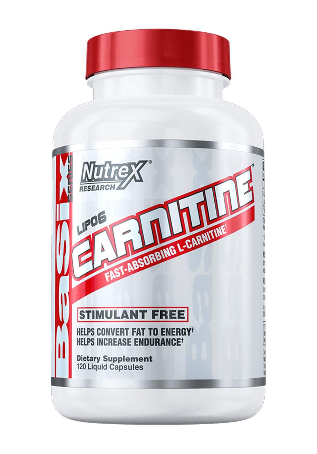 Nutrex Lipo 6  Carnitine Fast Absorbing  120 Liquid Caps   مكمل غذائي لانقاص الوزن