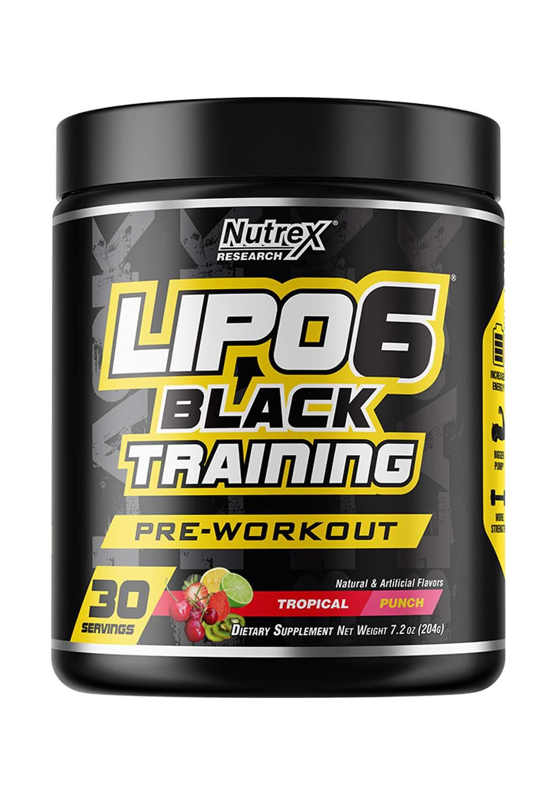 Lipo-6 Black Training Pre-Workout Tropical Punchمكمل غذائي لانقاص الوزن