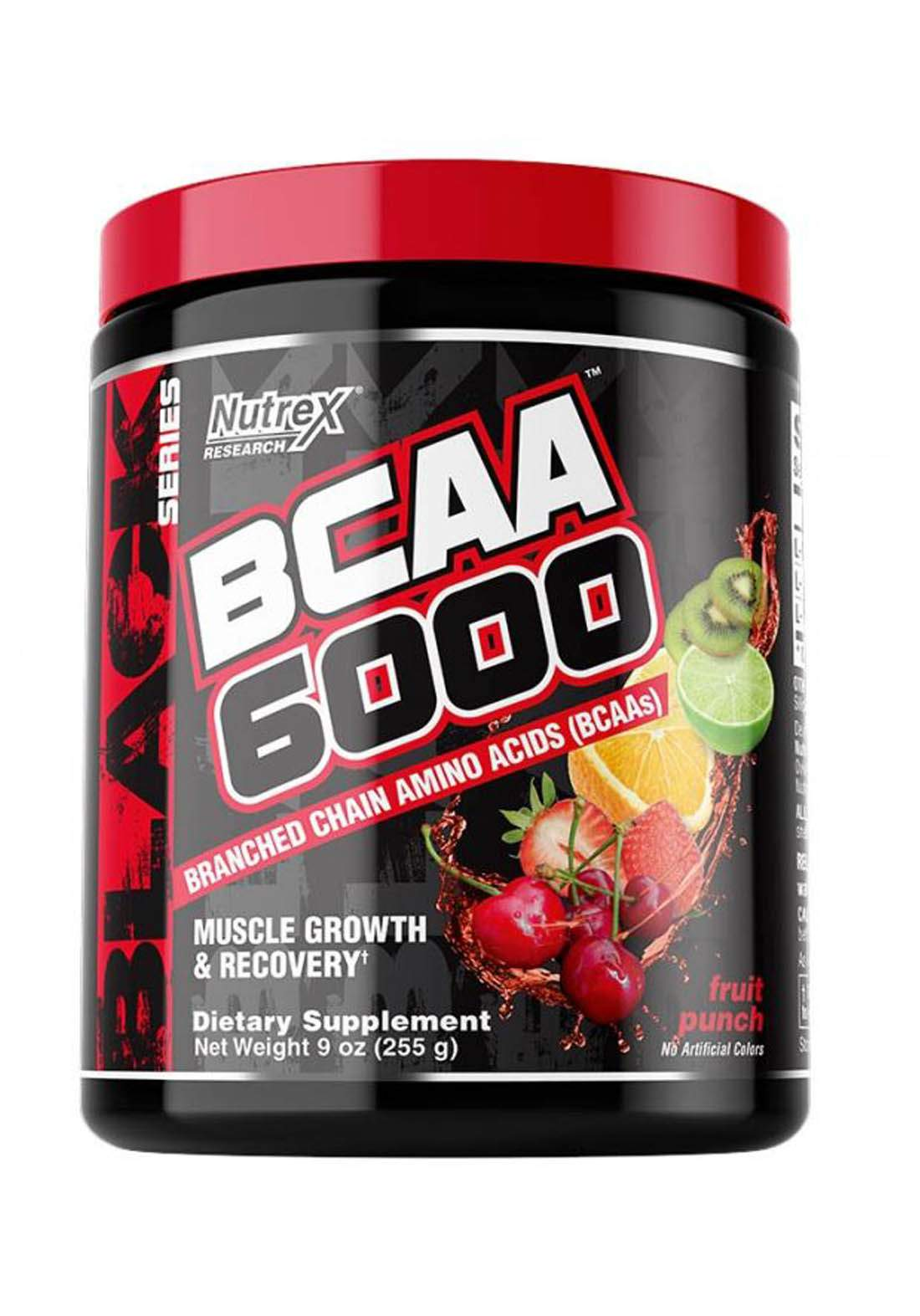 Nutrex Research BCAA 6000 Muscles Growth & Recovery Fruit Punch 30 Serv 255 Ml مكمل احماض امينية