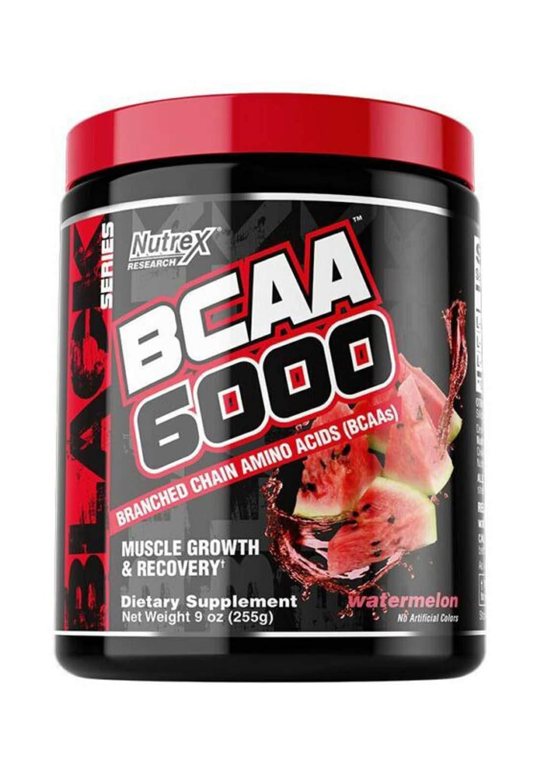 Nutrex Research BCAA 6000 Muscles Growth & Recovery Watermelon 30 Serv 255 Ml مكمل احماض امينية