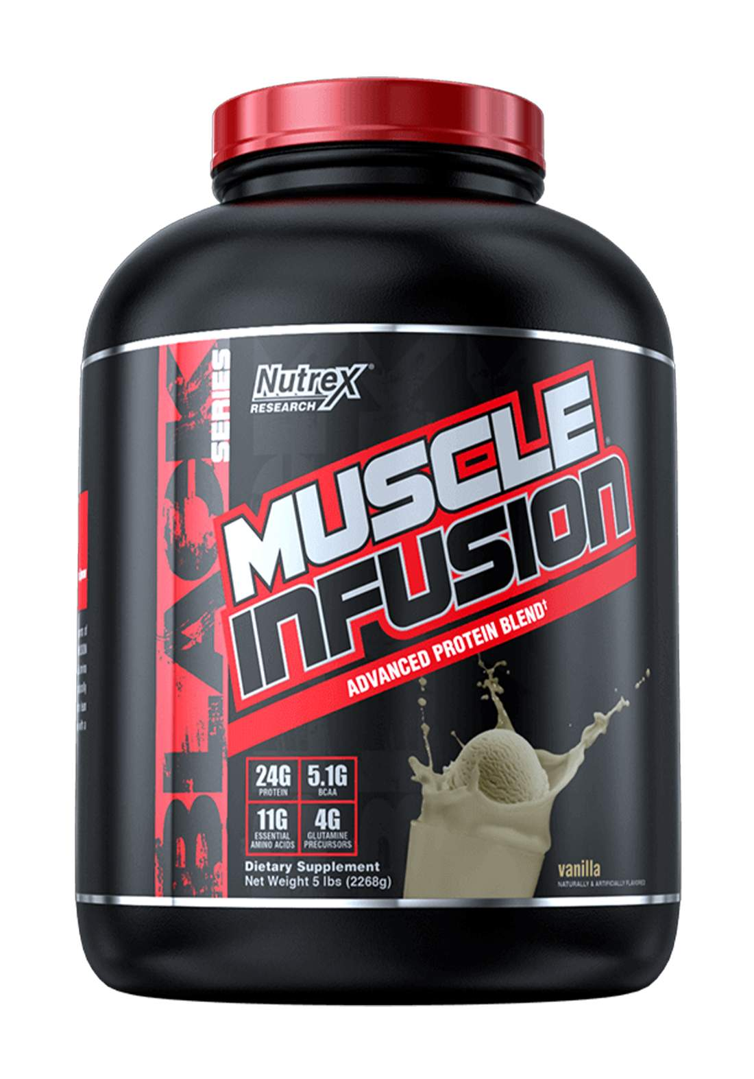 Nutrex  Muscle Infusion Advanced Protein Blend Vanella 5 LB 61serving مكمل غذائي