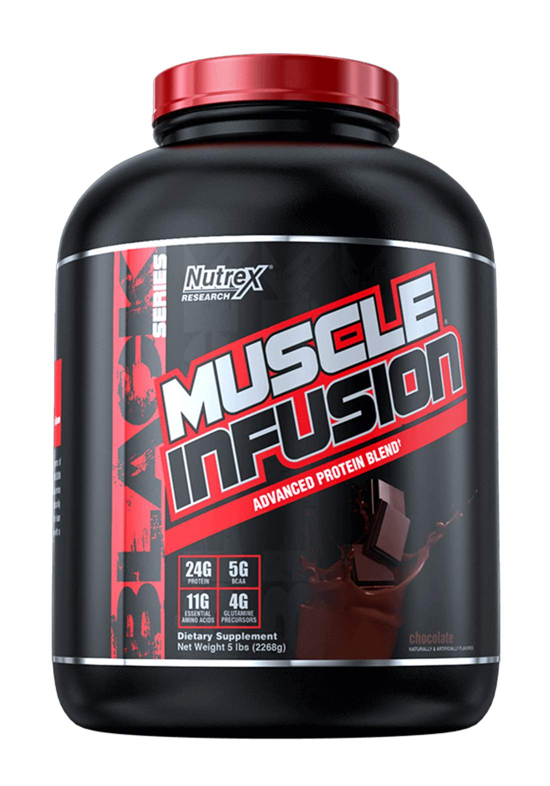 Nutrex  Muscle Infusion Advanced Protein Blend Chocolate 5 LB 61serving مكمل غذائي
