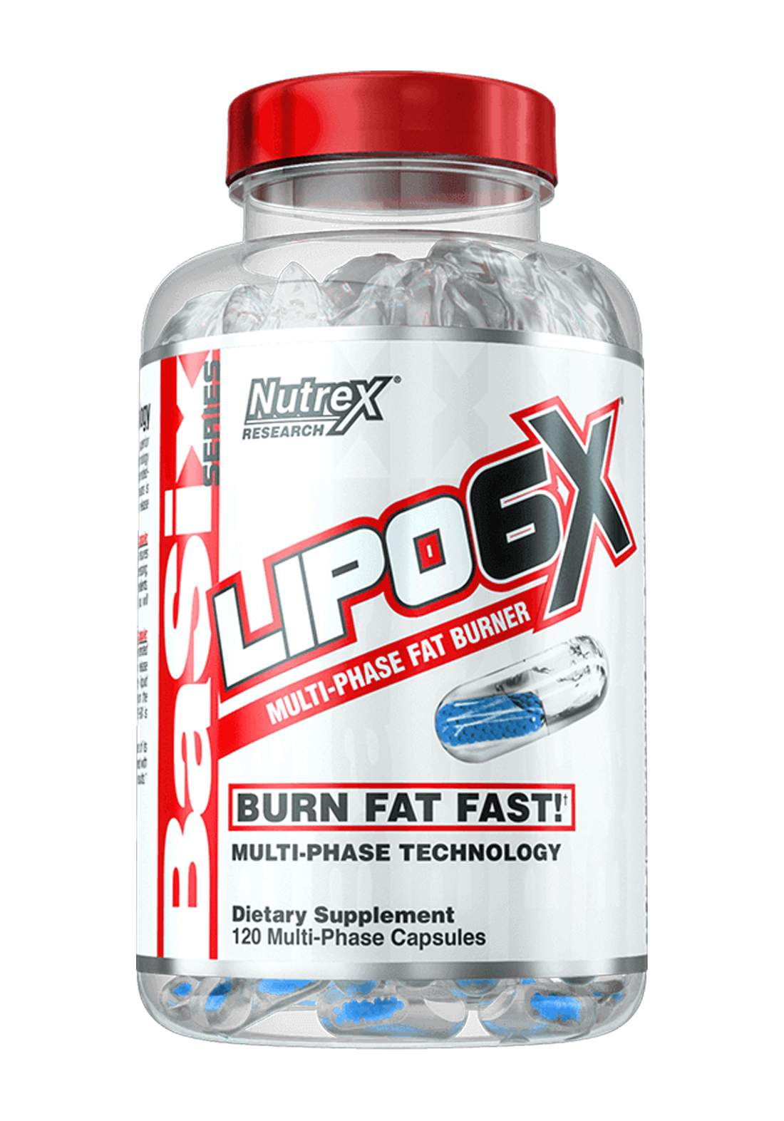 Nutrex Research Lipo-6  Multi-Phase Fat Burner 120 Capsules مكمل غذائي حارق للدهون