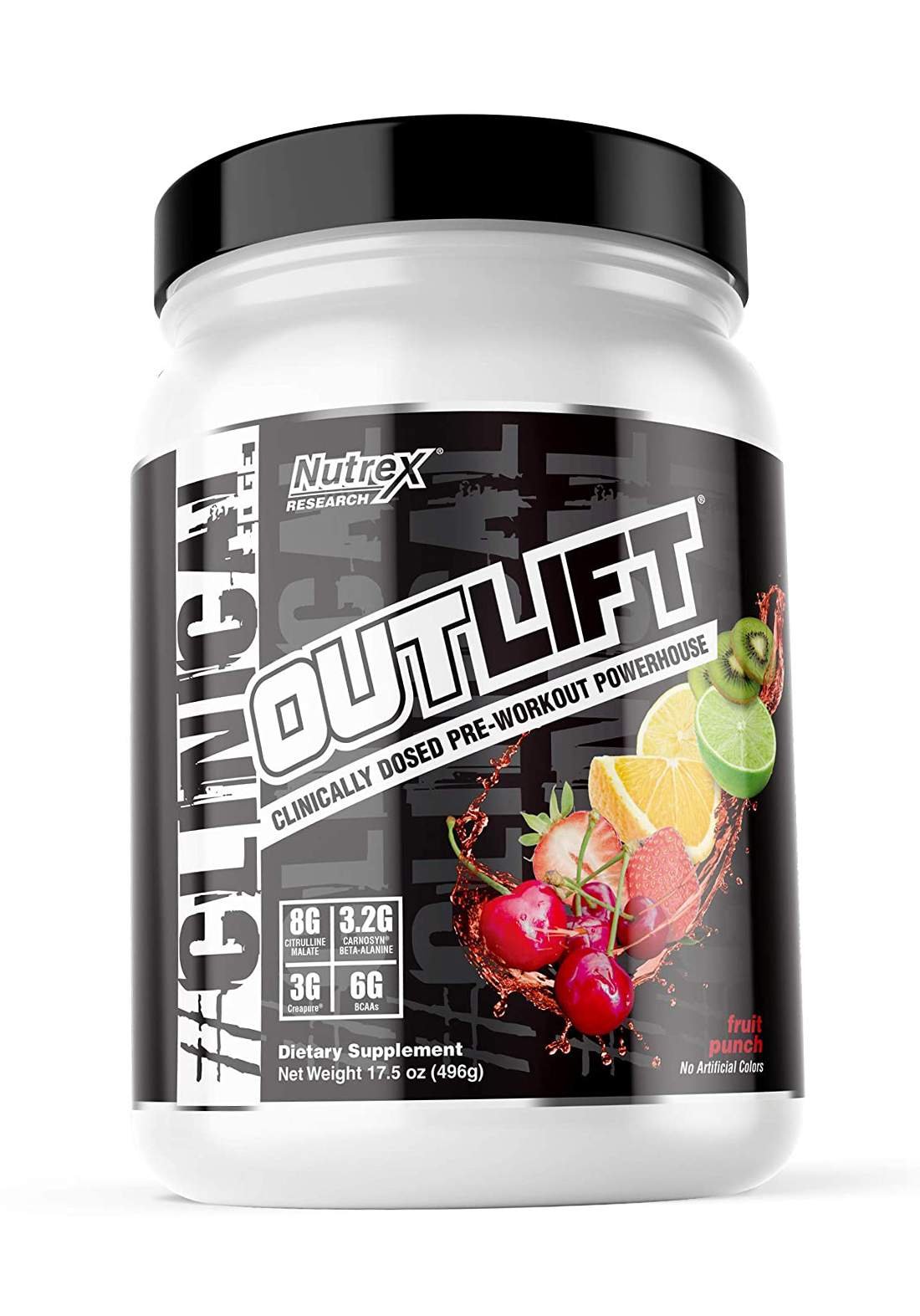 Nutrex Research OutLift Clinical Dosed pre-workout Fruit Panche 10 Servings 498Gm مكمل غذائي