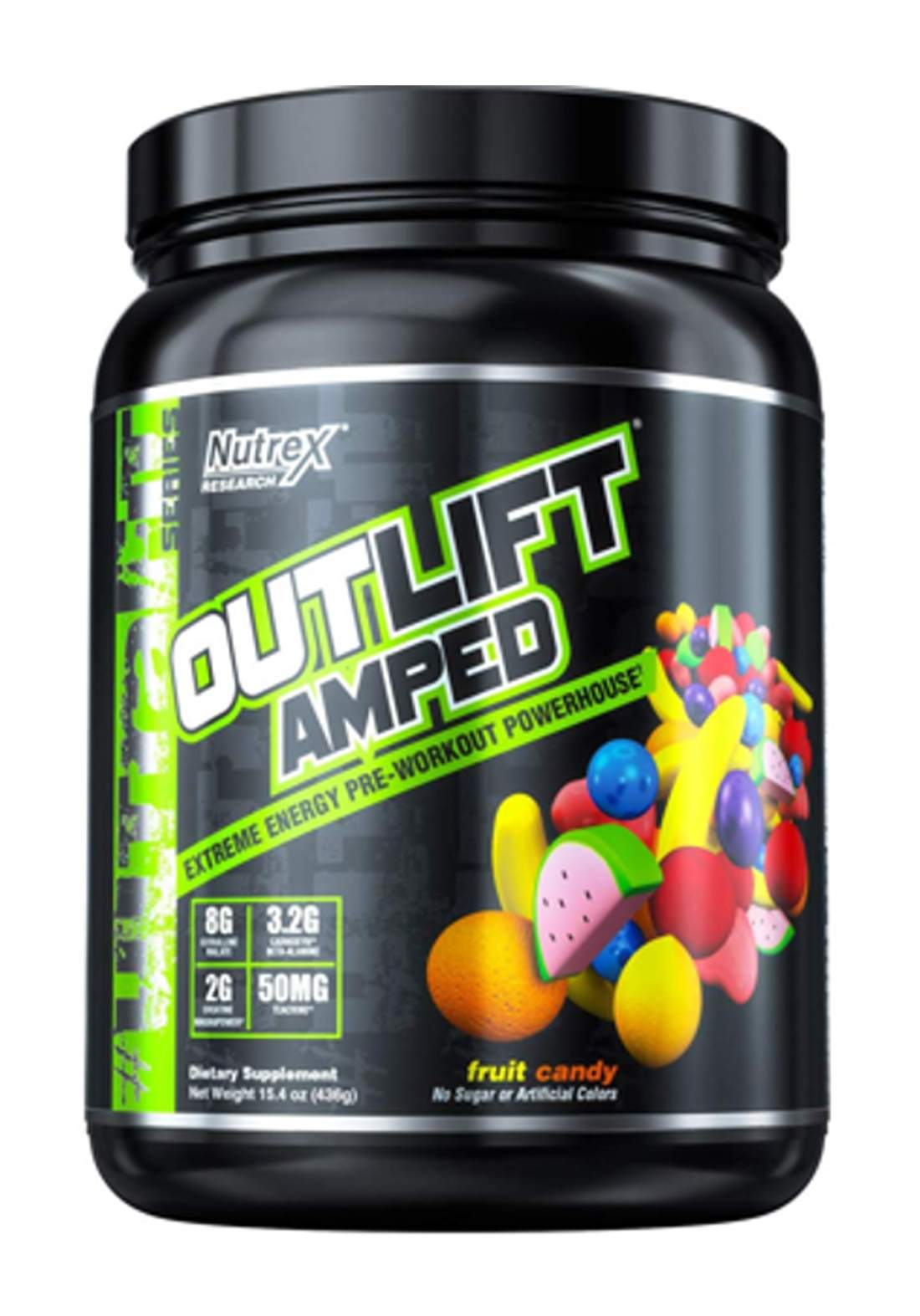 Nutrex Outlift Amped Extreme Energy Pre-Workout Fruit Candy 20 Servings   مكمل غذائي