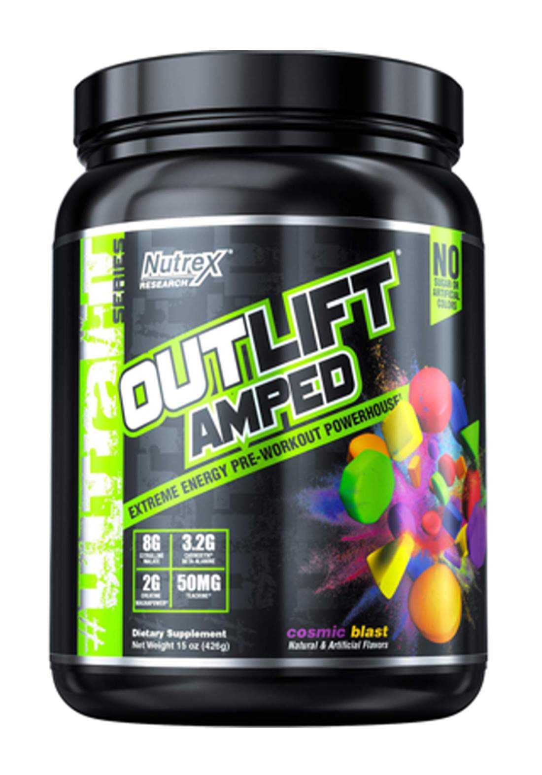 Nutrex Outlift Amped Extreme Energy Pre-WorkoutCosmic Blast 20 Servings   مكمل غذائي