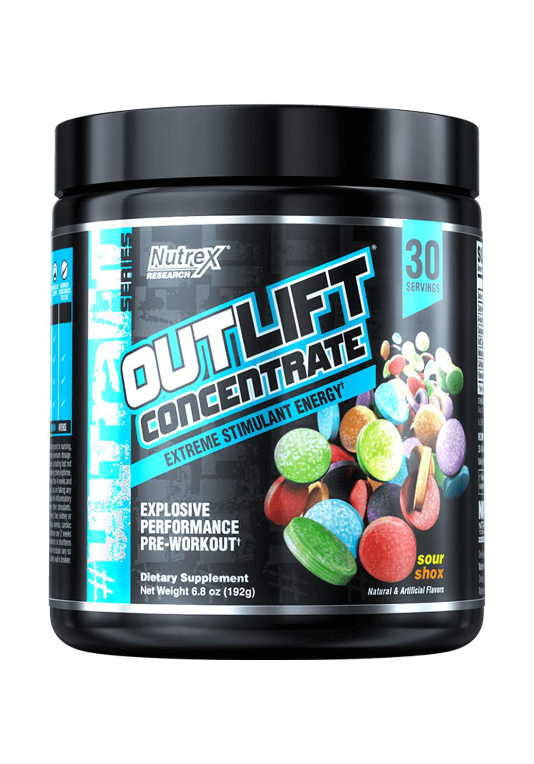 Nutrex Outlift Concentrate Extreme Energy Stimulant Sour Shox 309Gm 30 Servings  مكمل غذائي