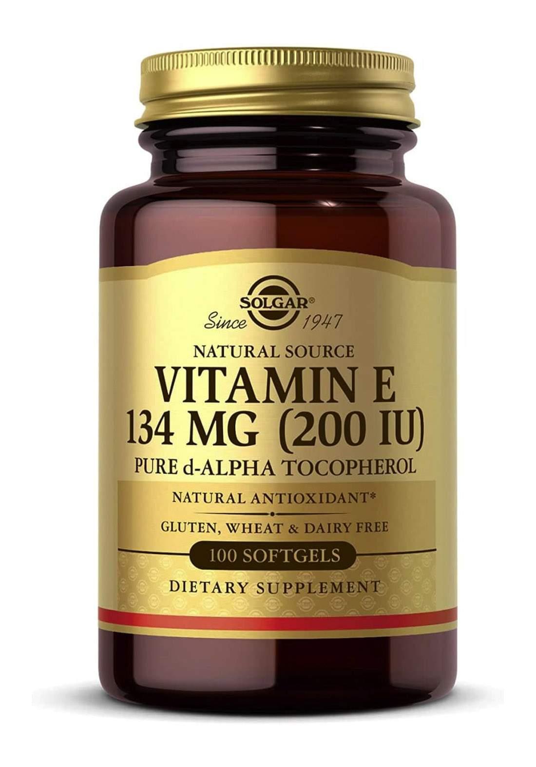 Sulgar Natural Source Vitamin E (134mg)  50 Caps  فيتامينات