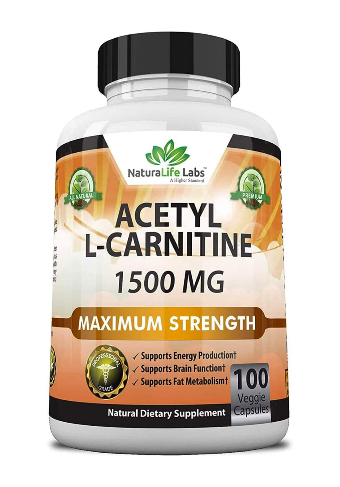 Nature Life Labs Astely L-Carntine(1000MG) 100 Capsules مكمل غذائي 100 كبسولة