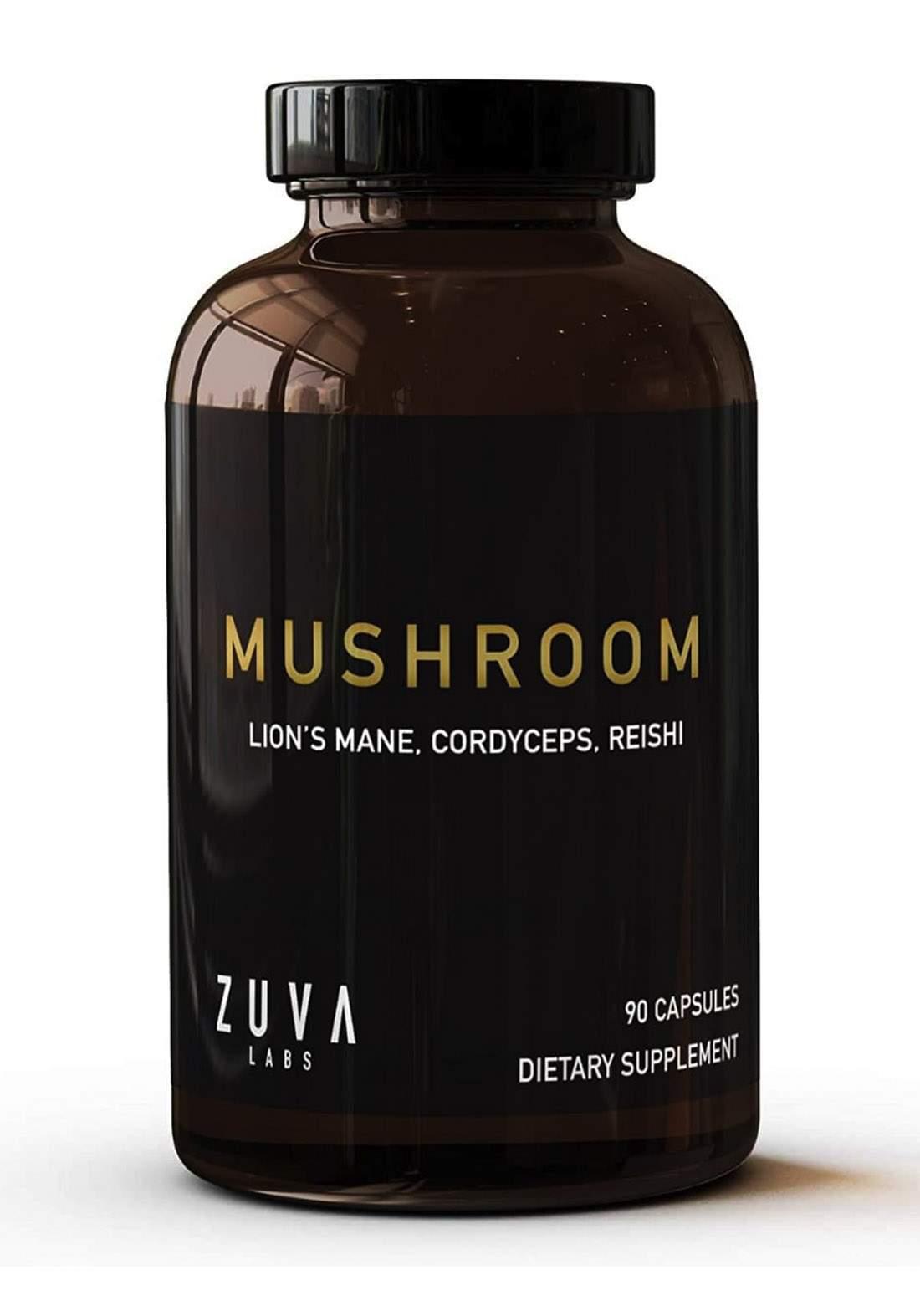 Zuva Labs Lions Mane Mushroom Premium Mushroom Supplement ( 2000 mg )90 Tablets مكمل غذائي