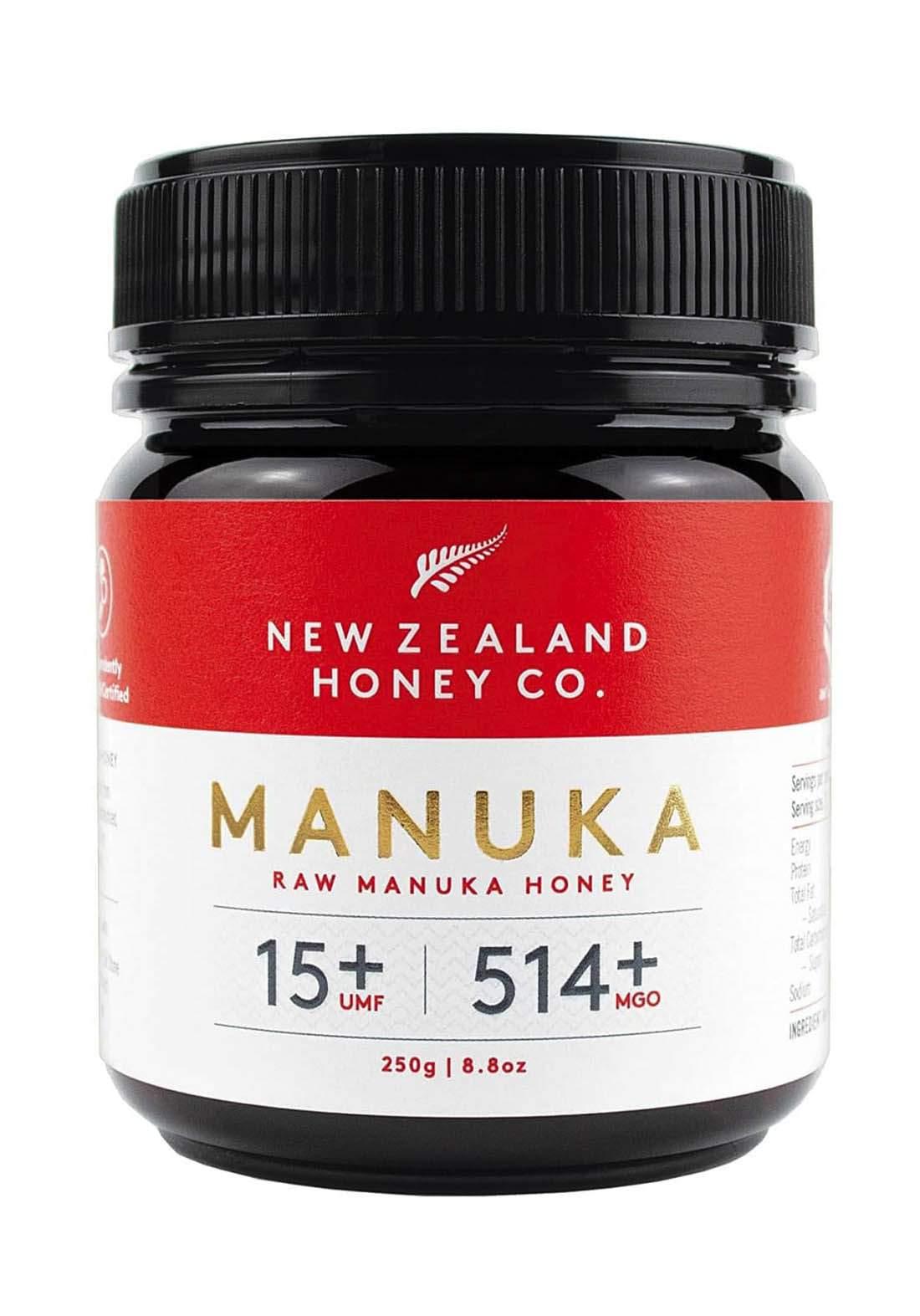 Newzealand  Hony CO. Manoca 250G (15 Umf 514 Mgo) مكمل غذائي عسل المانوكا