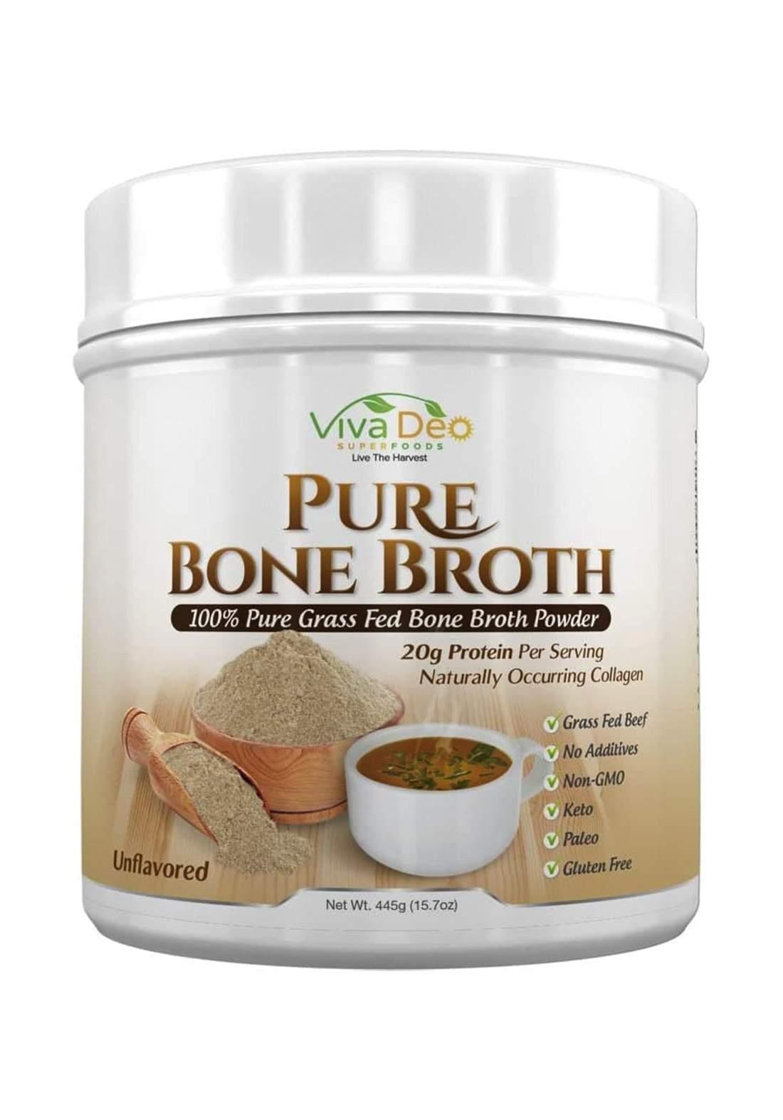 Viva Deo Pure Organic Grass Feed Bone Protein Powder 445g  مكمل غذائي بروتين