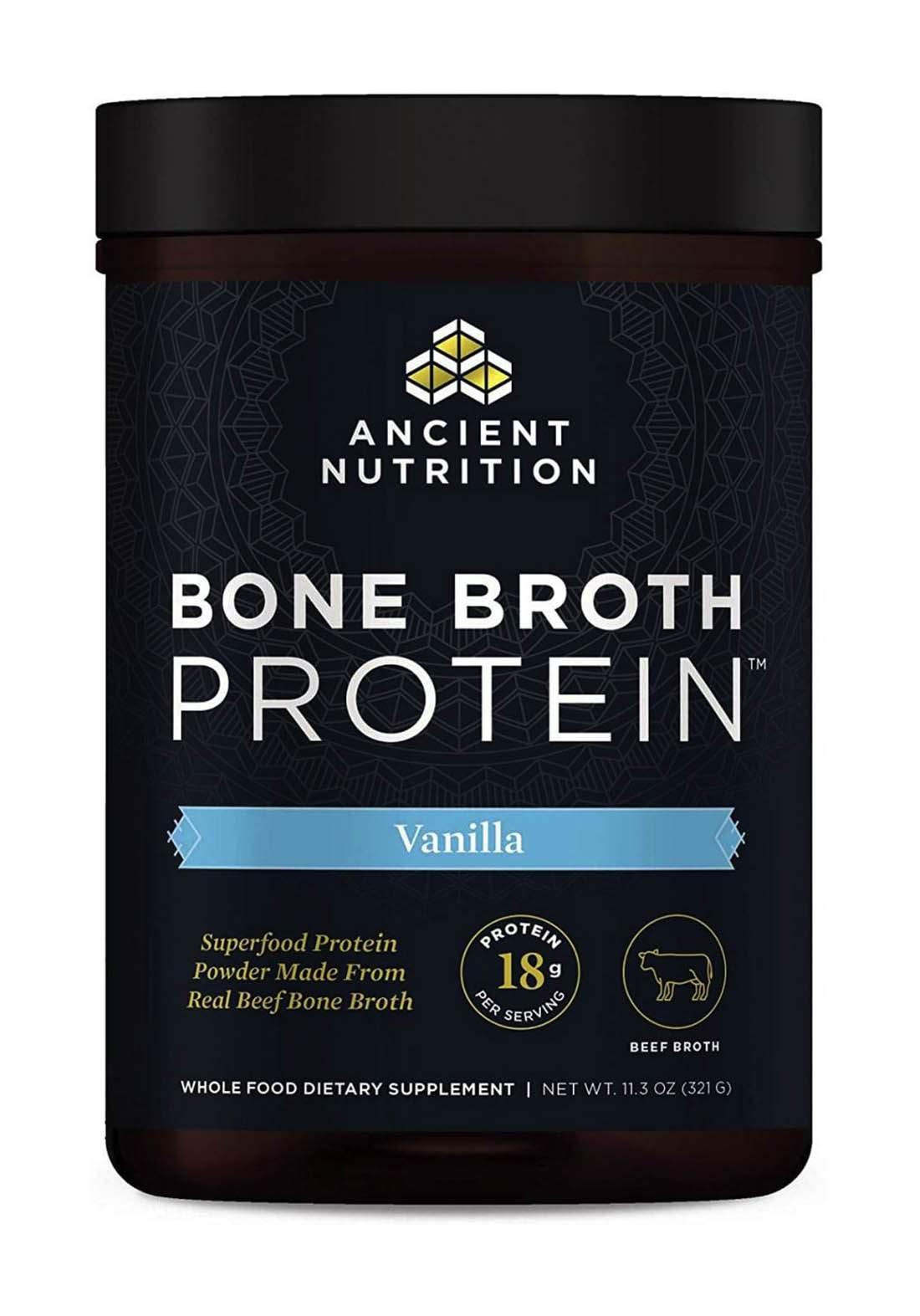 Ancient Nutrition Bone Broth Protein Powder 321 g مكمل غذائي