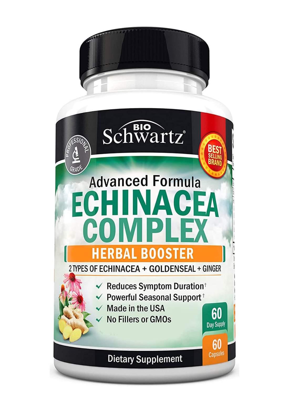 Bio Schwartz Advanced Formula Enchinacea Complex 60 Capsules  عشبة الاكنشيا المركب