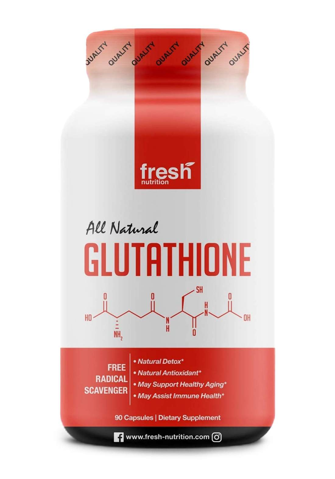 Fresh Nutrion All Natural Glutathion 90 Capsules الكلوتاثيون