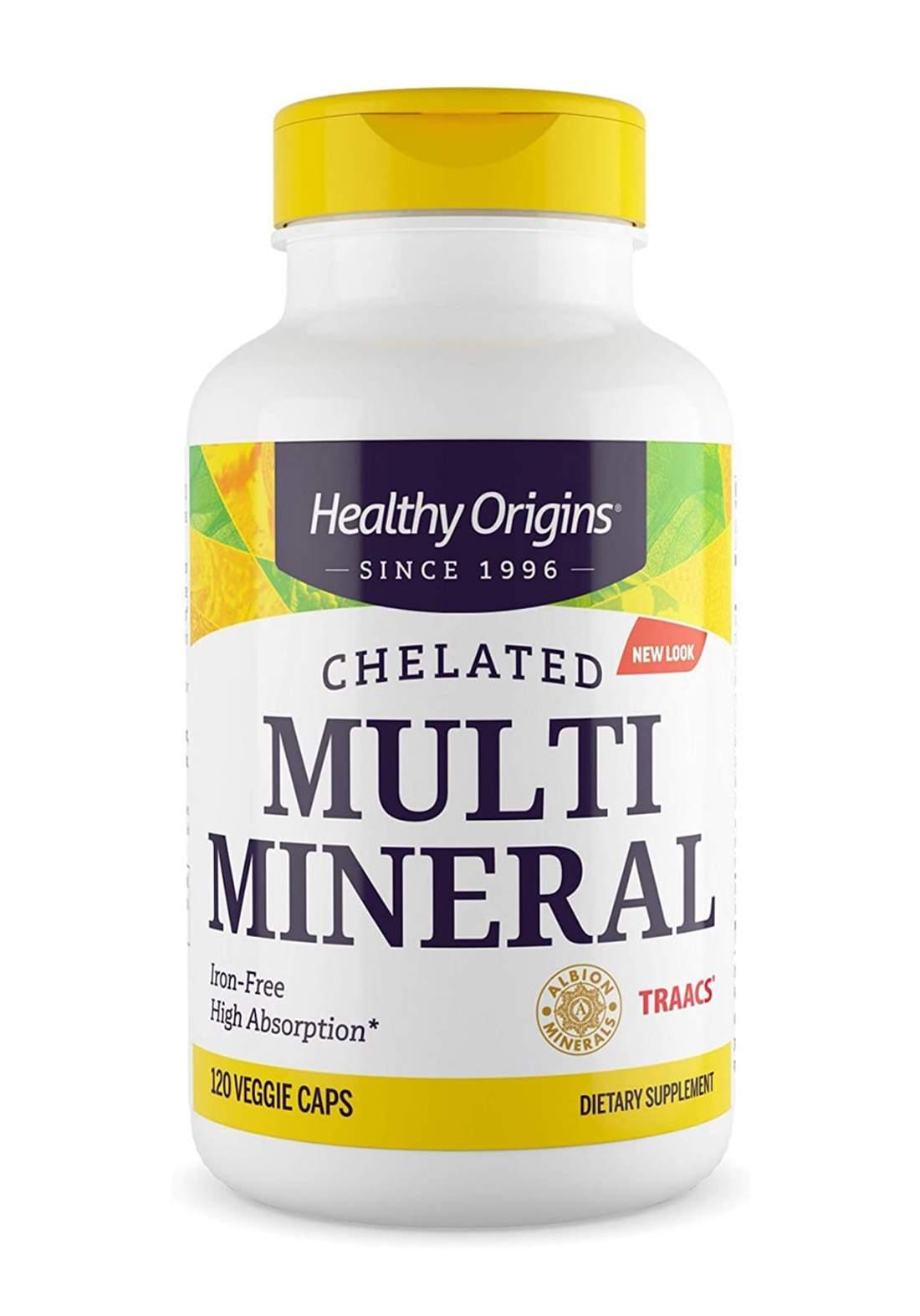 Healthy Origins Chelated Multi Minerals 120 Veggie Caps معادن متعددة