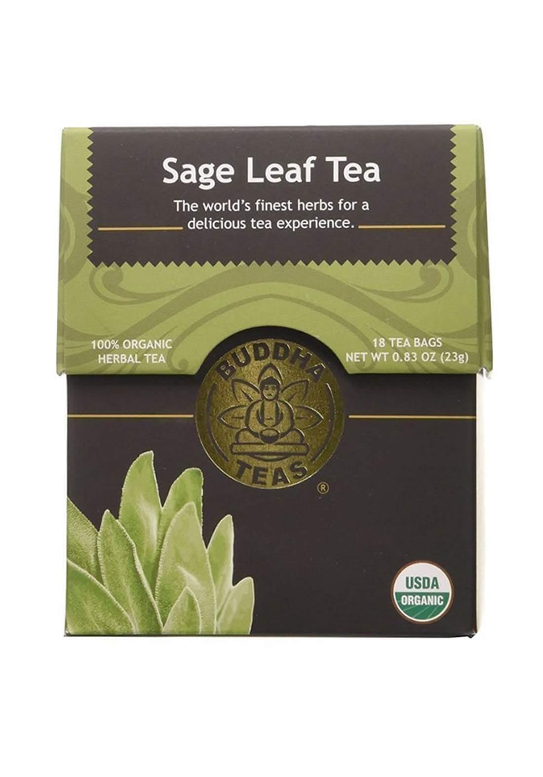Buddah Teas Sage Leaf Tea 18 Tea Bags شاي المريمية