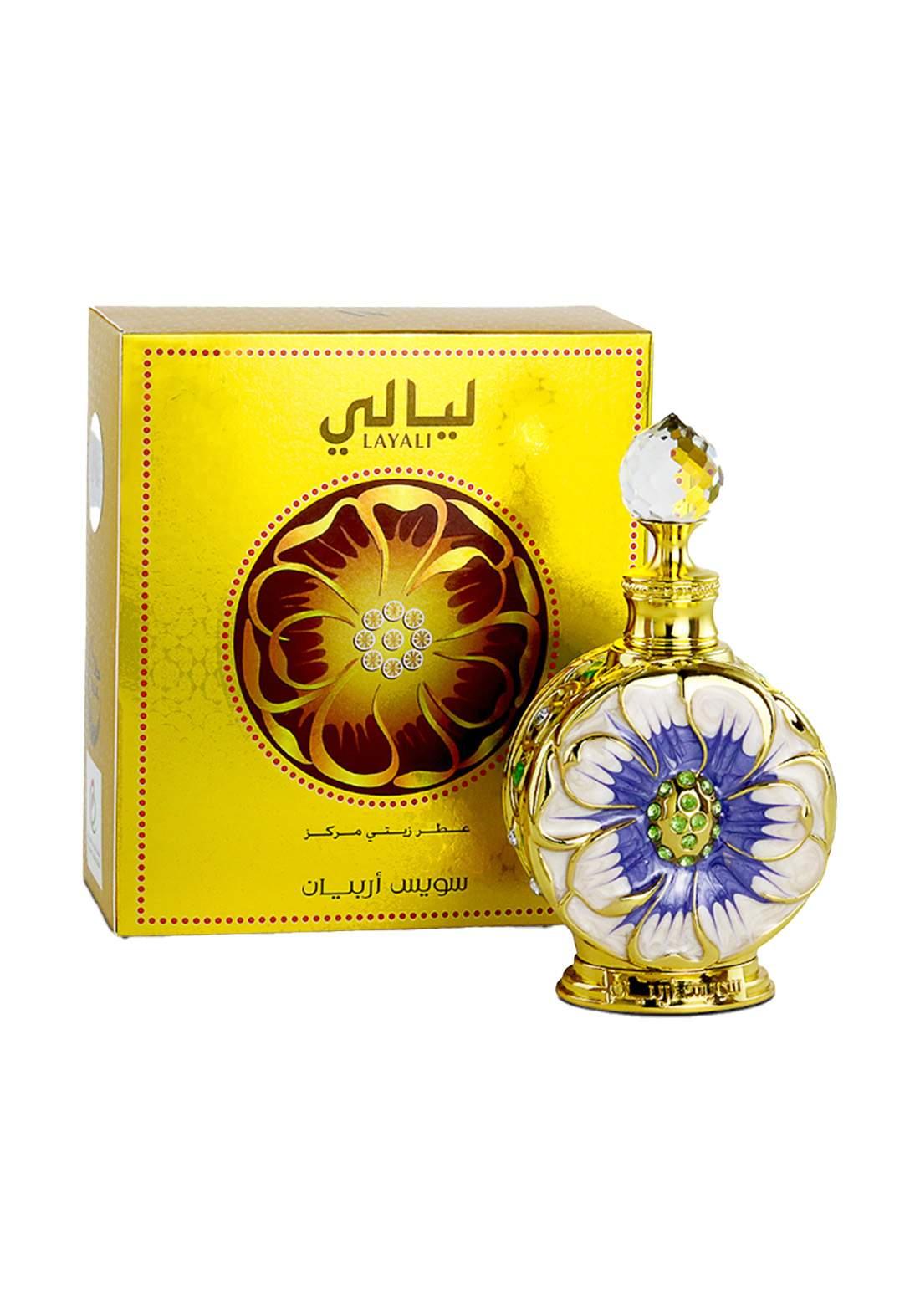 Swiss Arabian 996 Layali  concentrated Perfume Oil  for Unisex-15 ml  عطر لكلا الجنسين