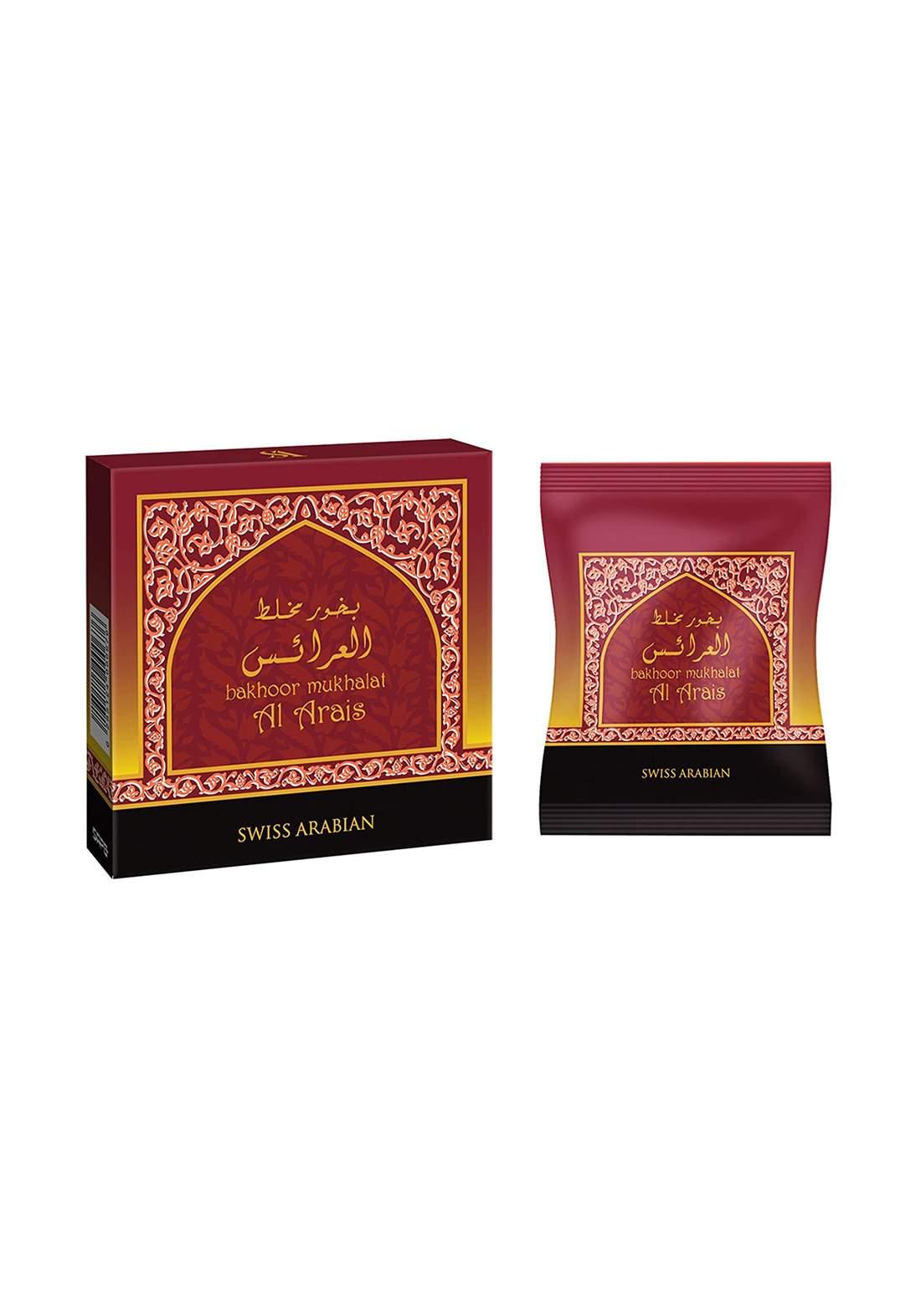 Swiss Arabian 1401 Bakhoor Mukhalat Alarais بخور