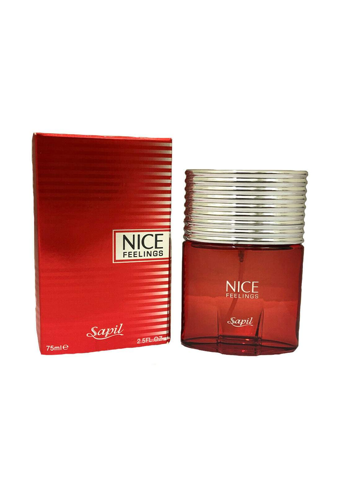 Sapil 350U Nice Feelings  Mens EDT  Woody Citrus Fragrance-75ml  عطر رجالي