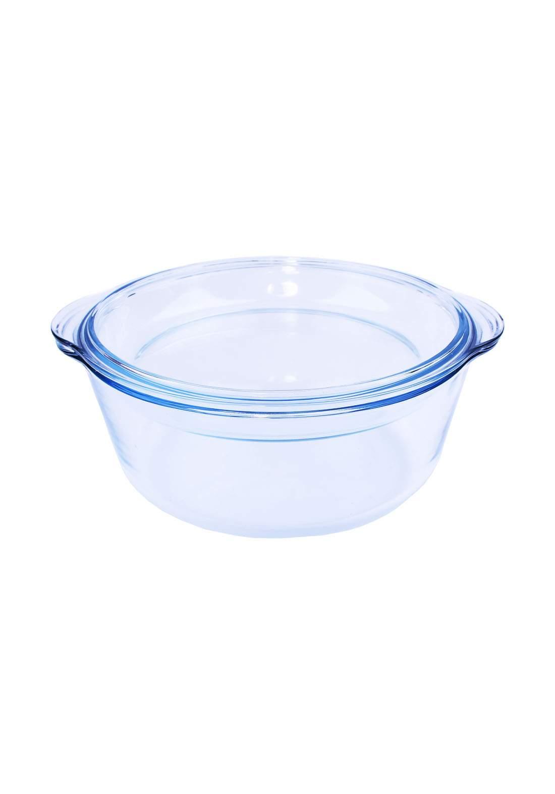 وعاء بايركس دائري شفاف مقاوم للحرارة