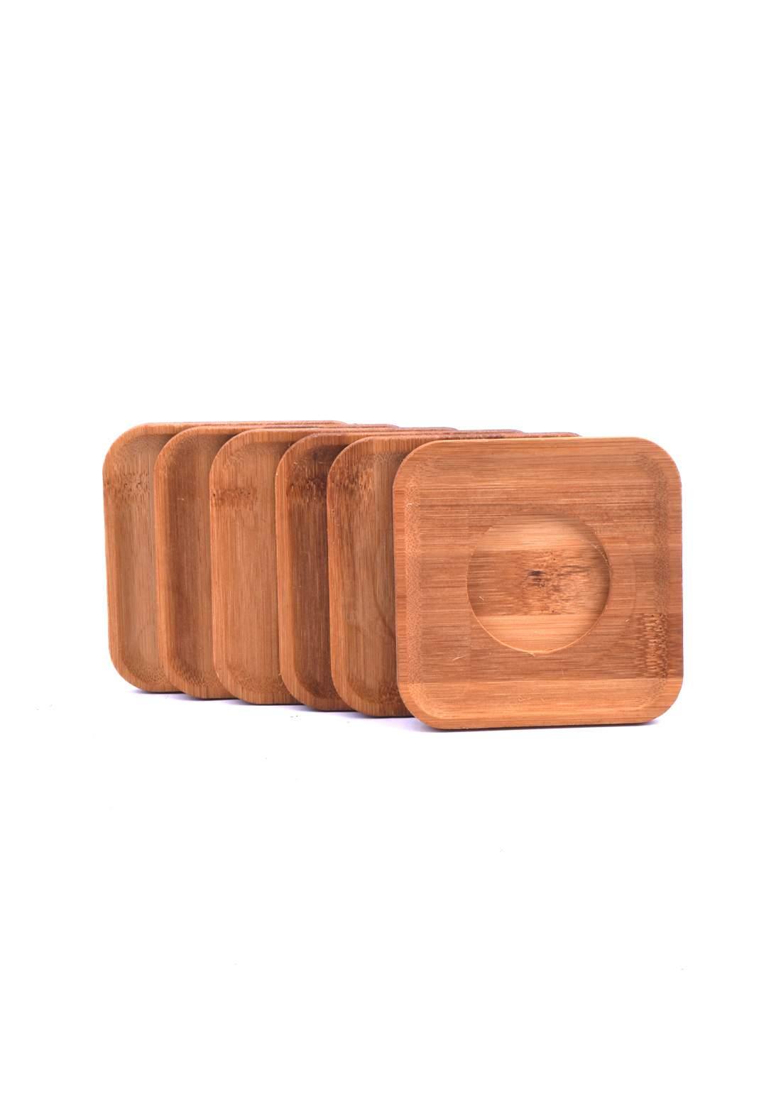 صحن خشبي مربع متعدد الاستخدام6388