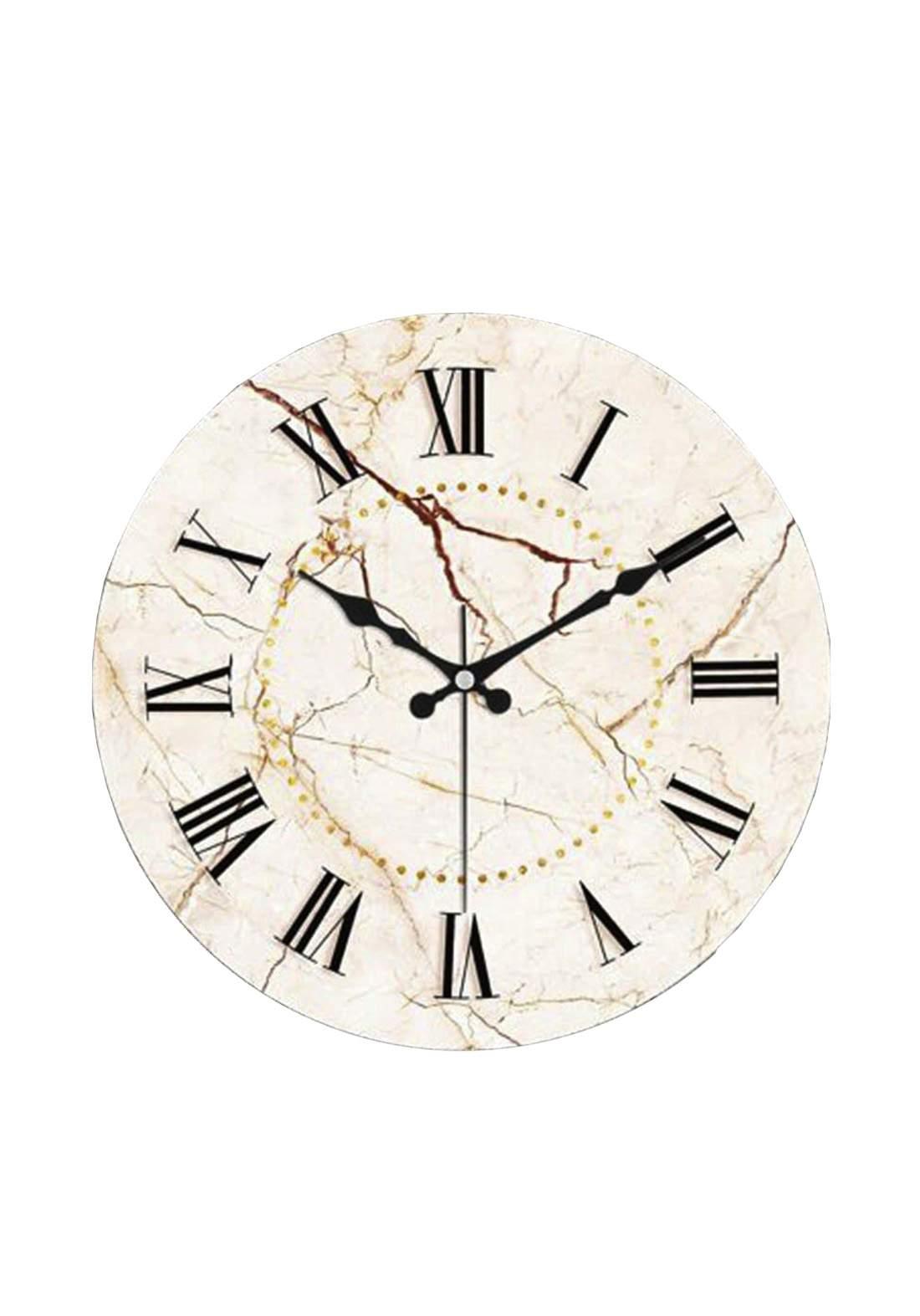 ساعة جداية شكل مرمري