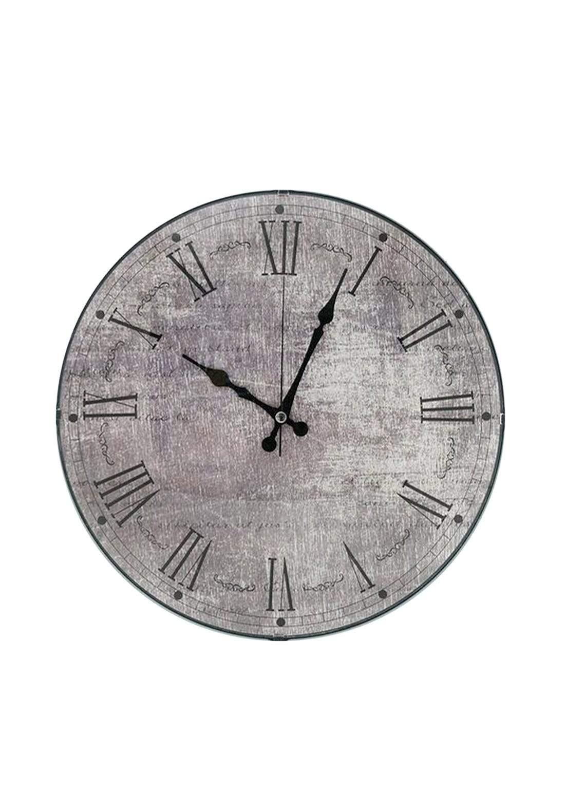ساعة جدارية رصاصي