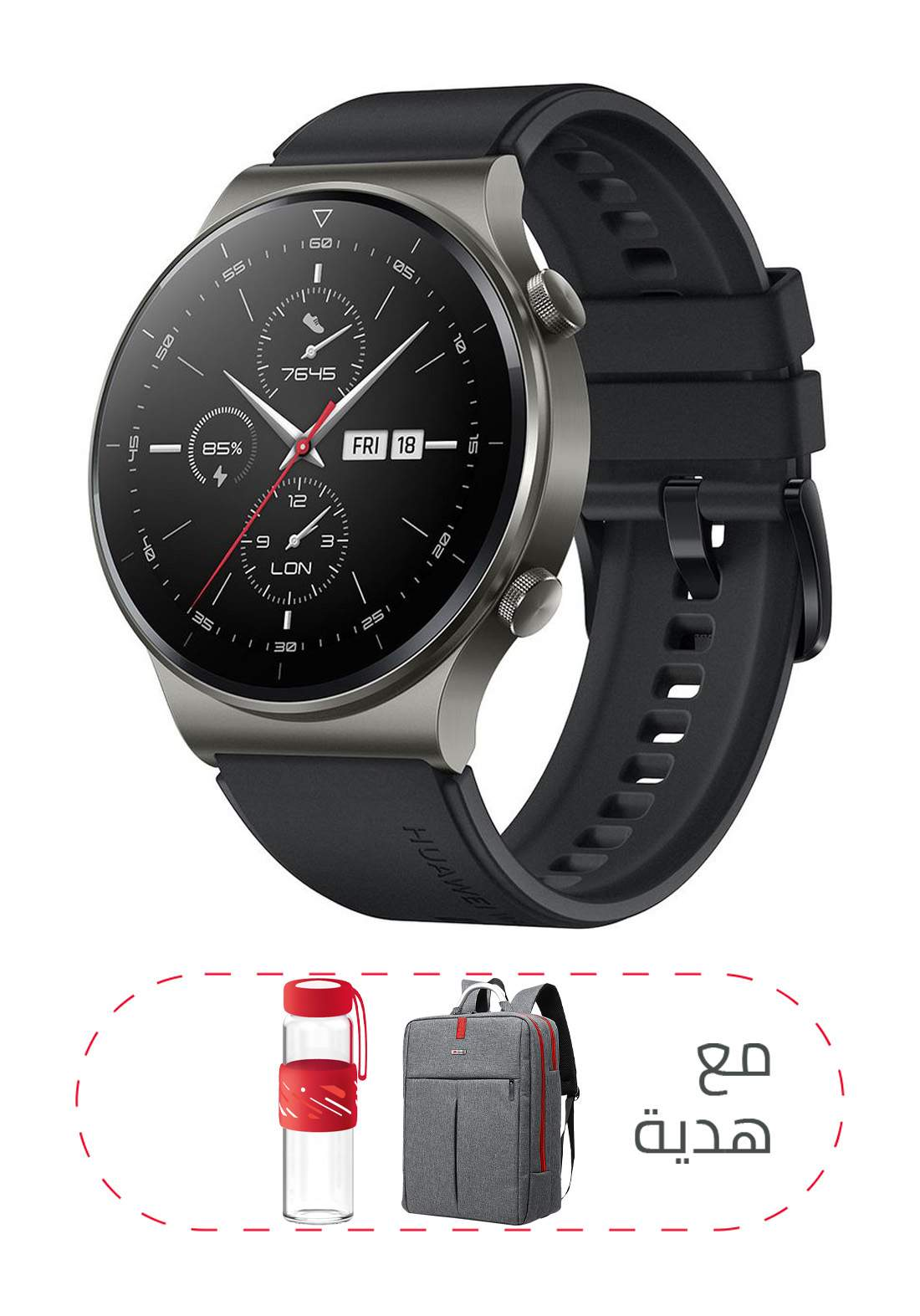 Huawei GT 2 Pro Bluetooth Smart Watch - Black ساعة ذكية