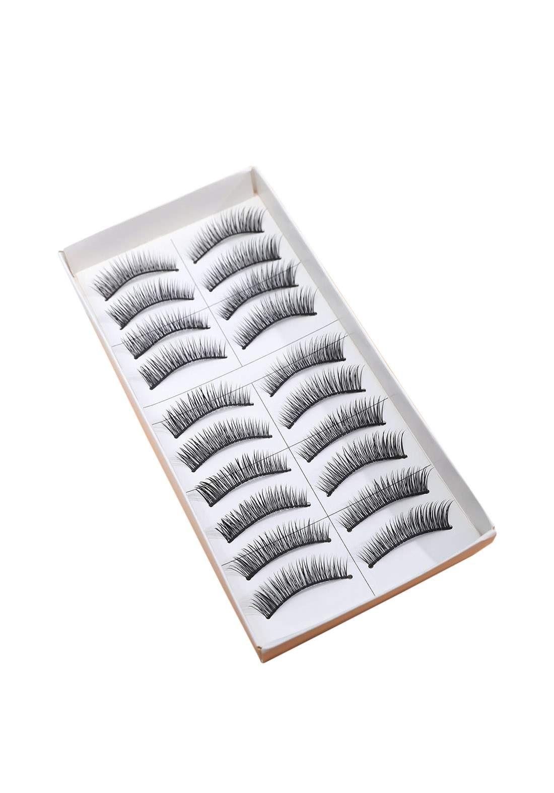 Set of eyelashes 10 pieces سيت رموش صناعية