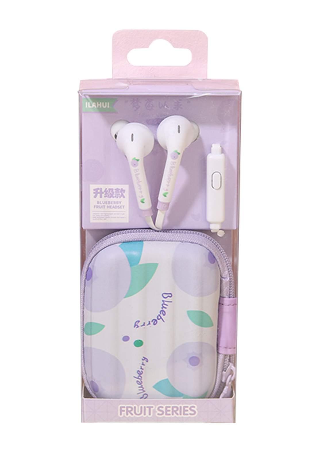 Ilahui Wired Headphones With Leather Case سماعة مع حافظة