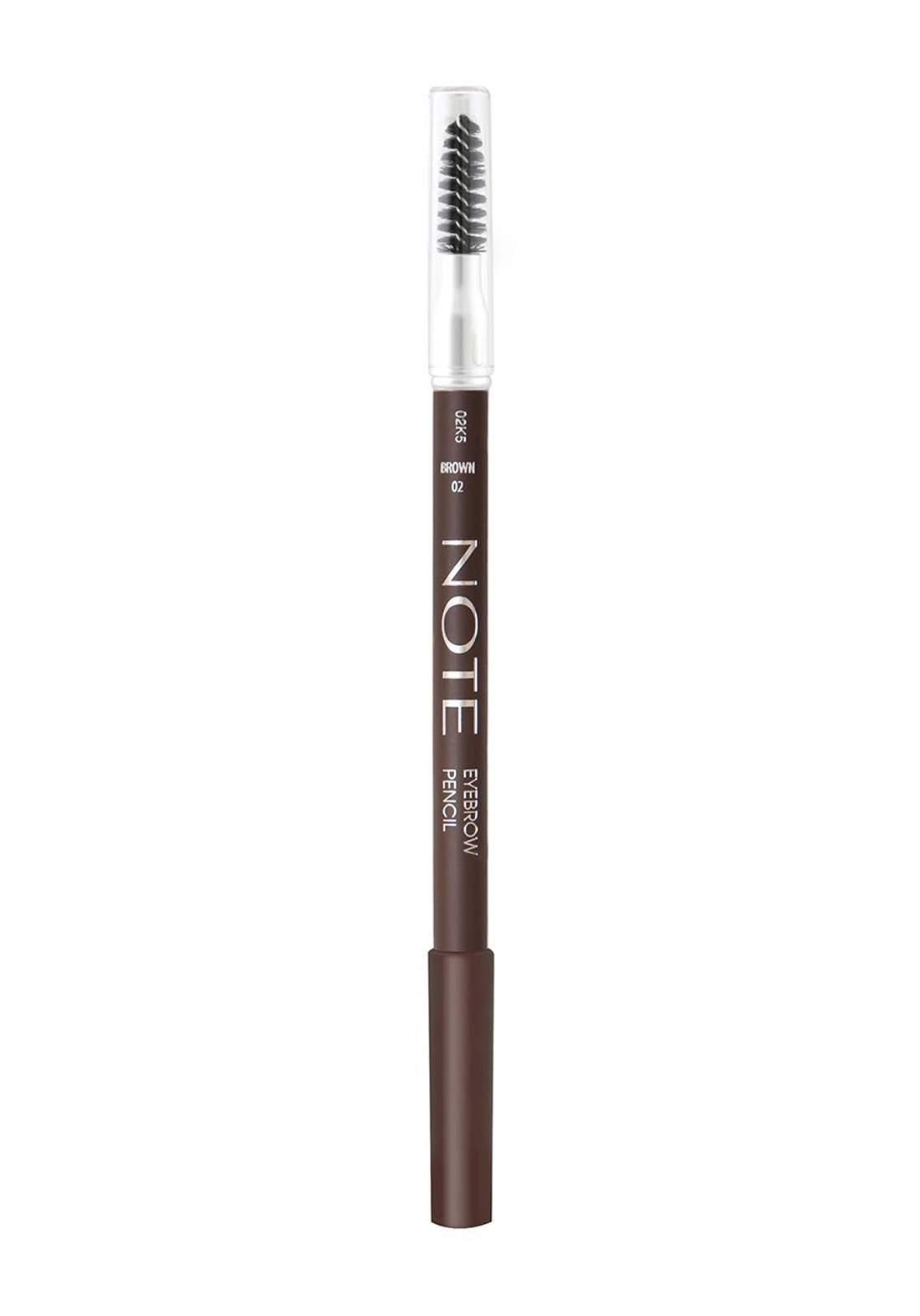 Note Eyebrow Pencil No.02 Brown 0.35g قلم تحديد الحاجب مع فرشاة