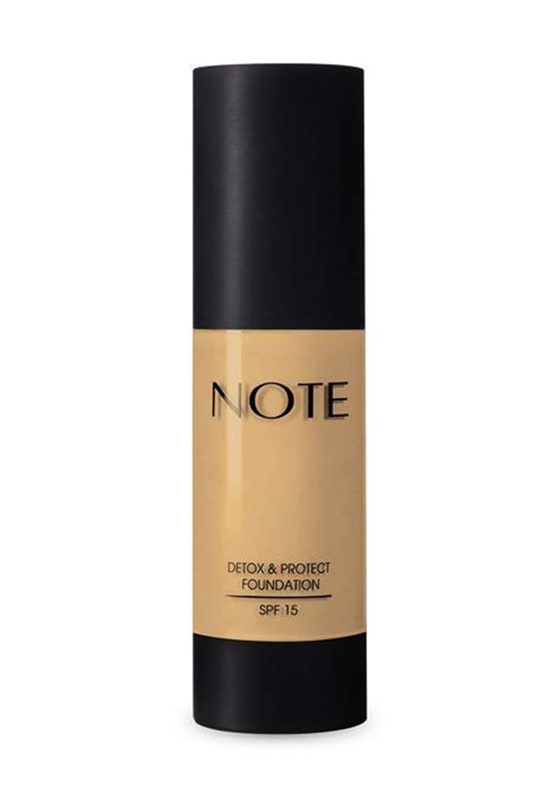 Note Detox And Protect Foundation 35 ml No.02 كريم اساس