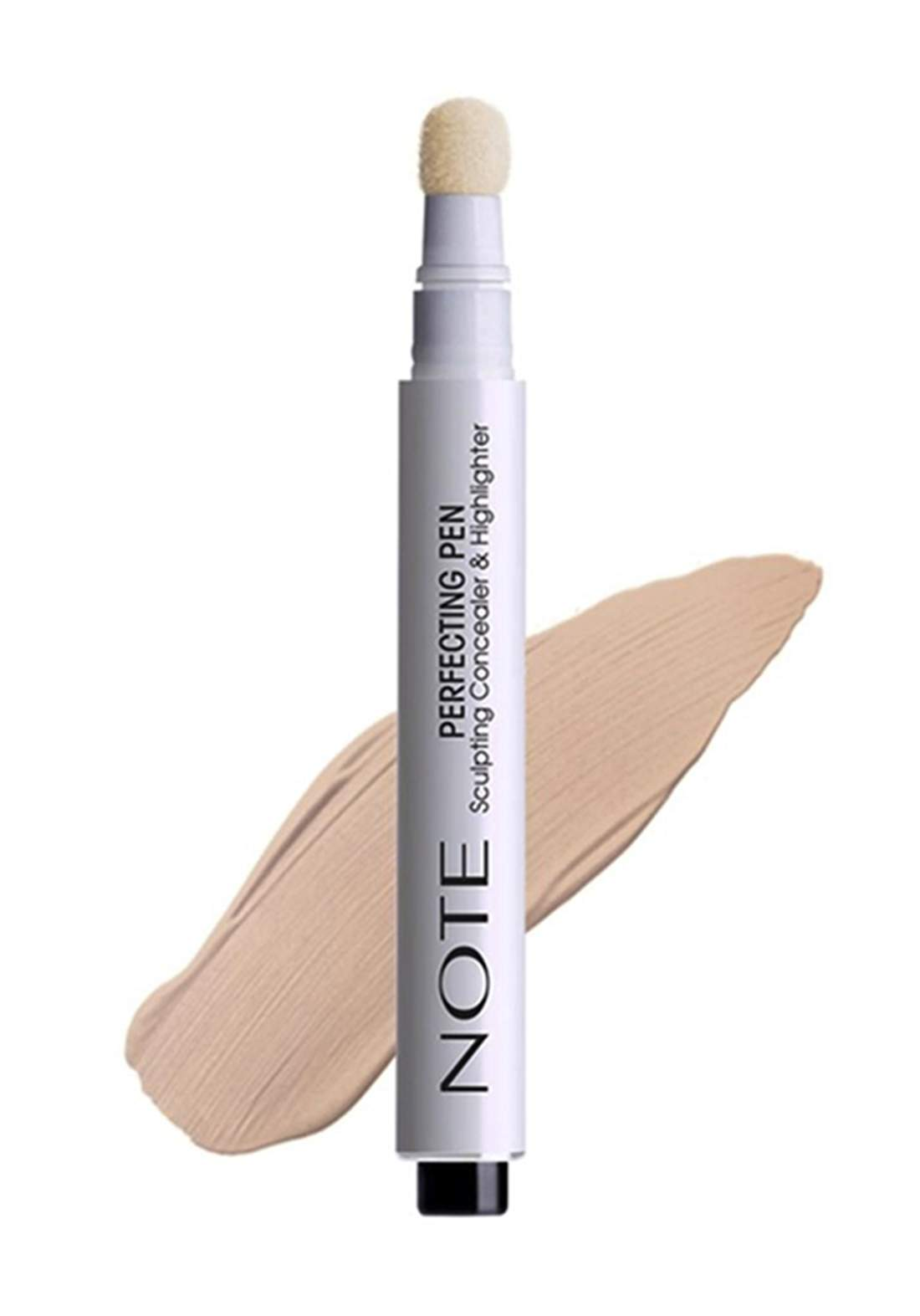 Note Perfecting Concealer And Highlighter Pen No.03 Light Beige - 3ml كونسيلر