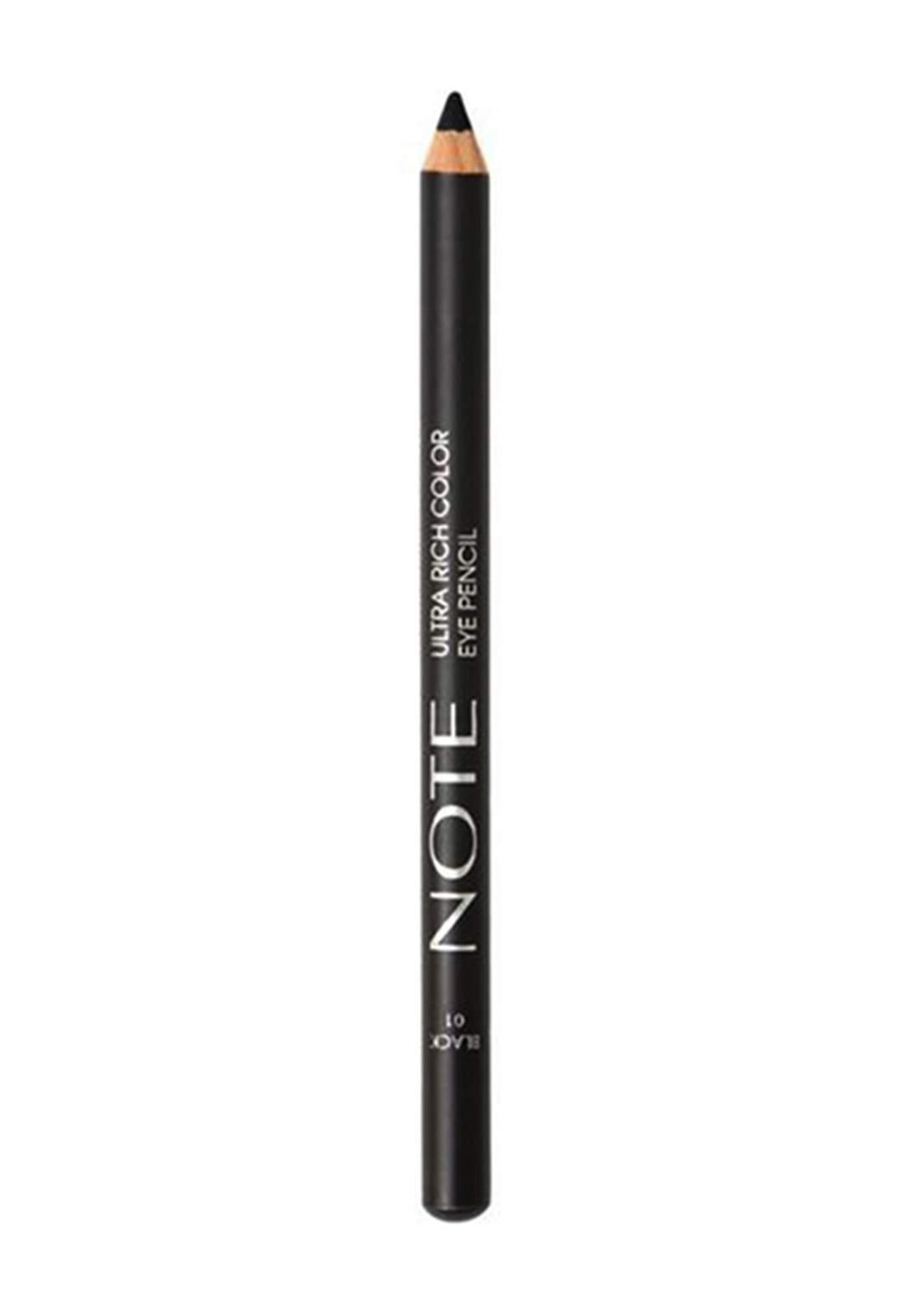 Note Ultra Rich Colour Eye Pencil 01 BLack 1.1g قلم تحديد للعيون