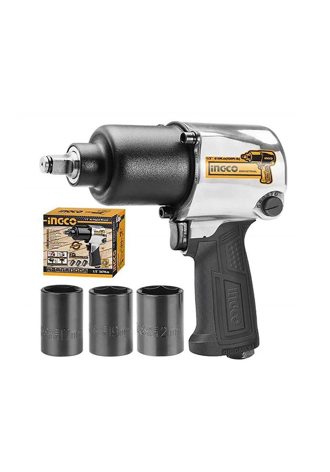 """INGCO AIW12562 Air Impact Wrench 1/2"""" Drive دريل هوائي"""