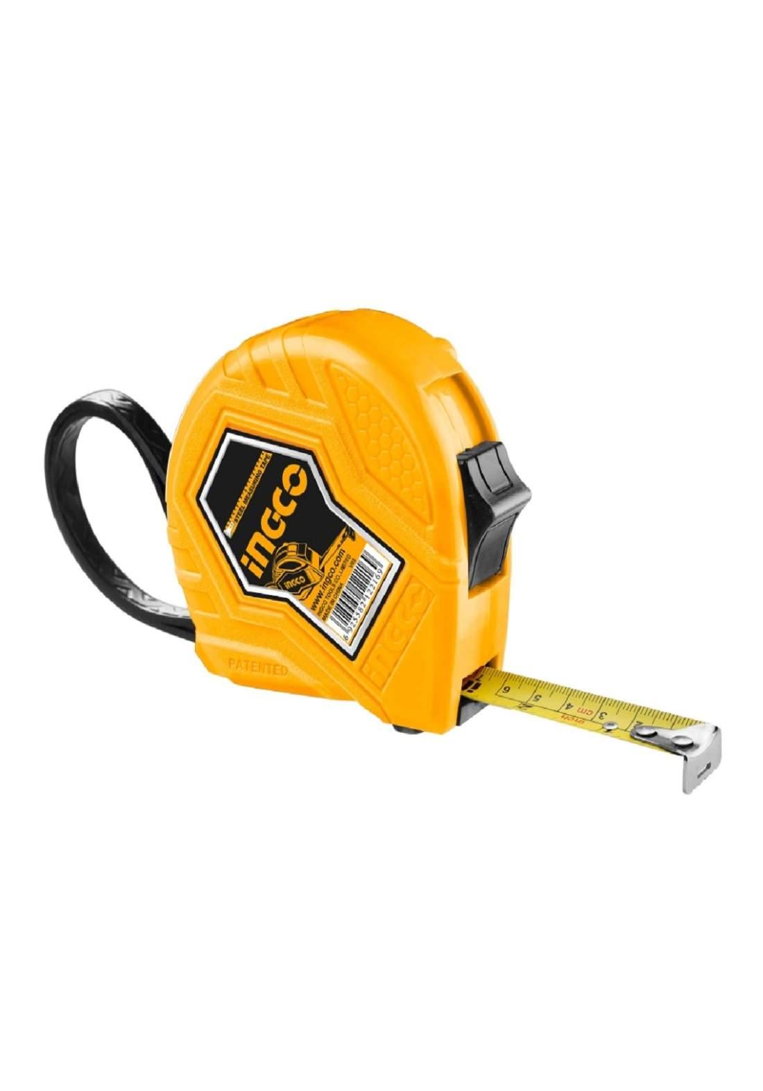 INGCO HSMT0833 Steel Measuring Tape 3mx16mm YELLOW IHT فيته (شريط قياس) 3م