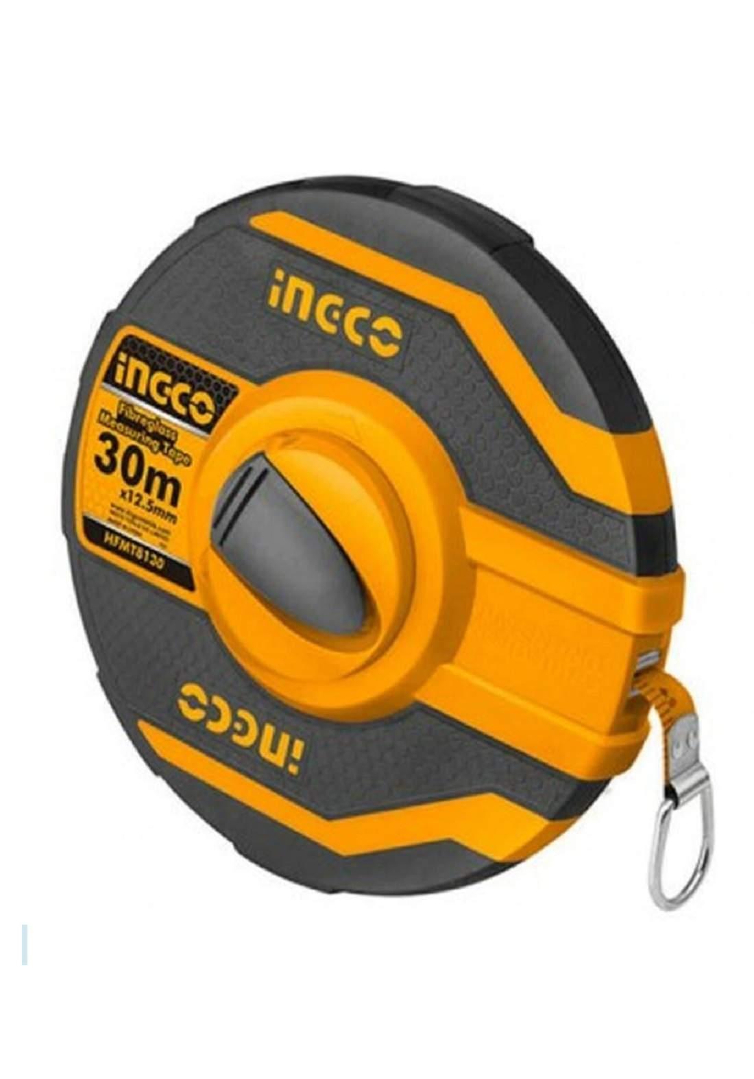 INGCO HFMT8130 Fiberglass Measuring Tape 30m فيته قماش شريطيه 30م سوبر