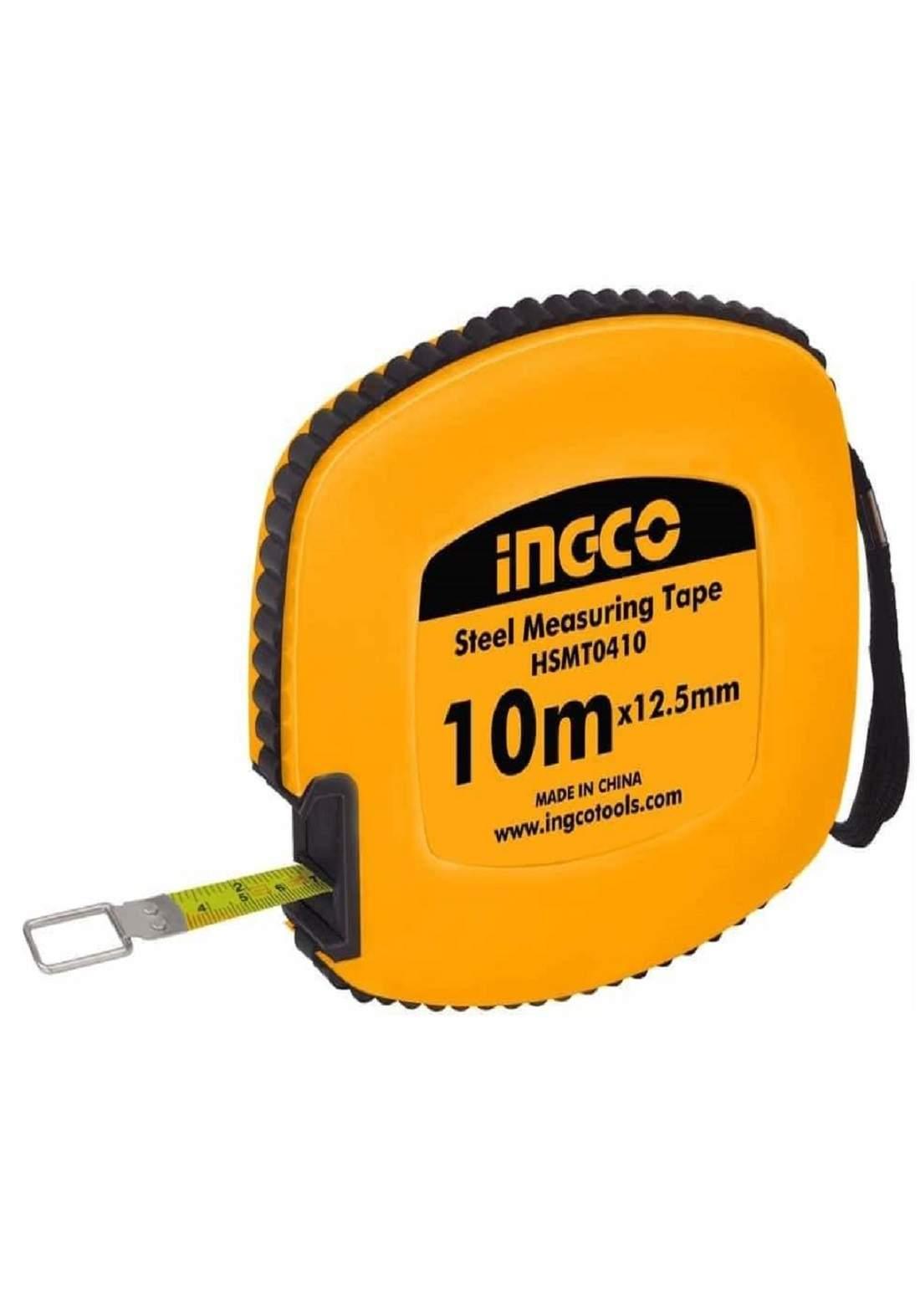 INGCO HSMT0410 Steel Measuring Tape 10M فيته (شريط قياس) حديد 10م شريطيه