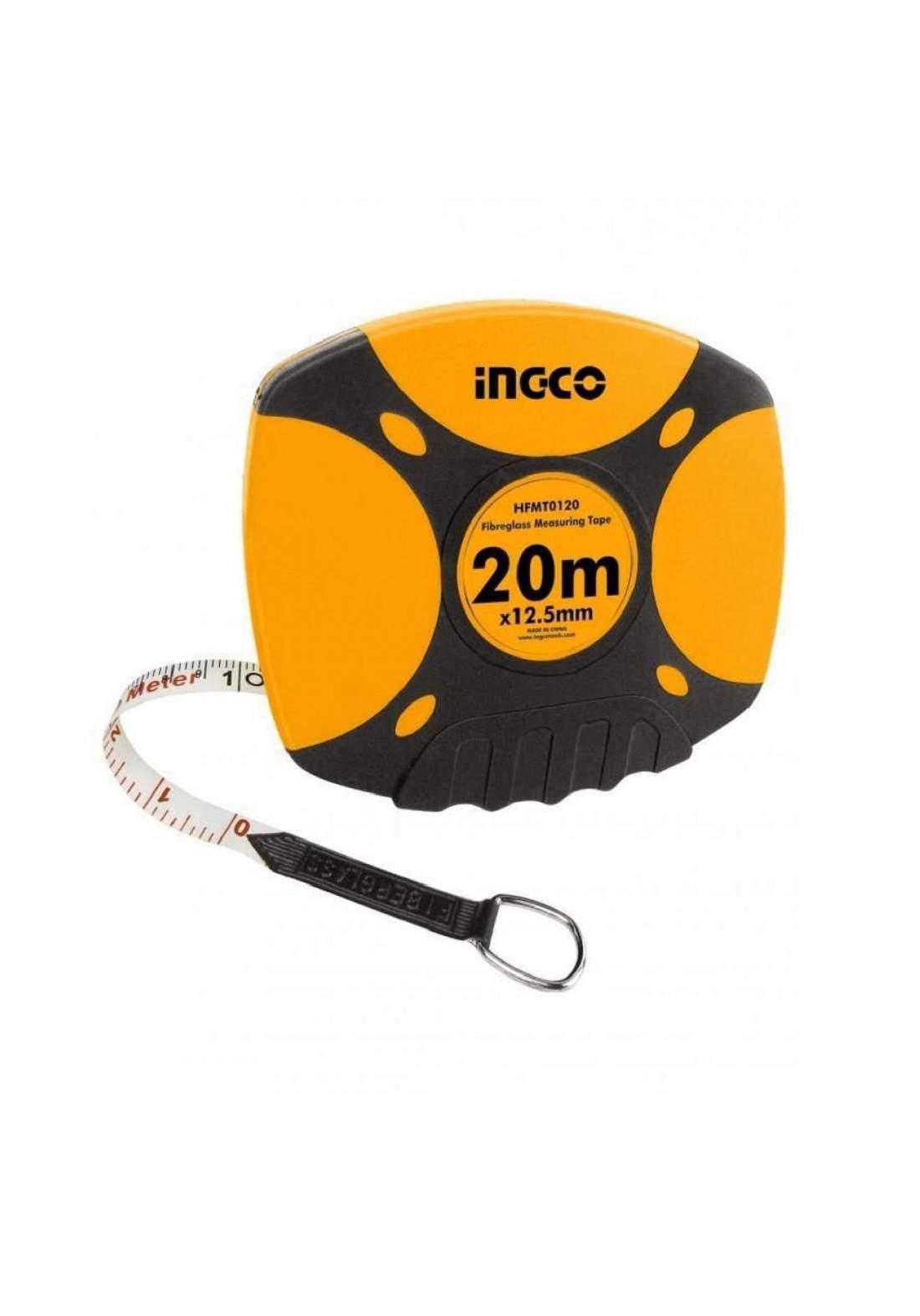 INGCO HFMT0120 Fibreglass Measuring Tape 20M فيته قماش 20 متر