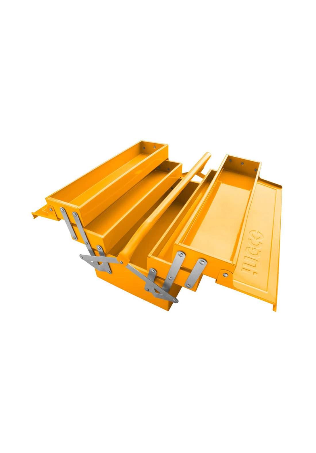 Ingco HTB03 Metal Tool Box Yallow  صندوق حفظ وتنظيم العُدد