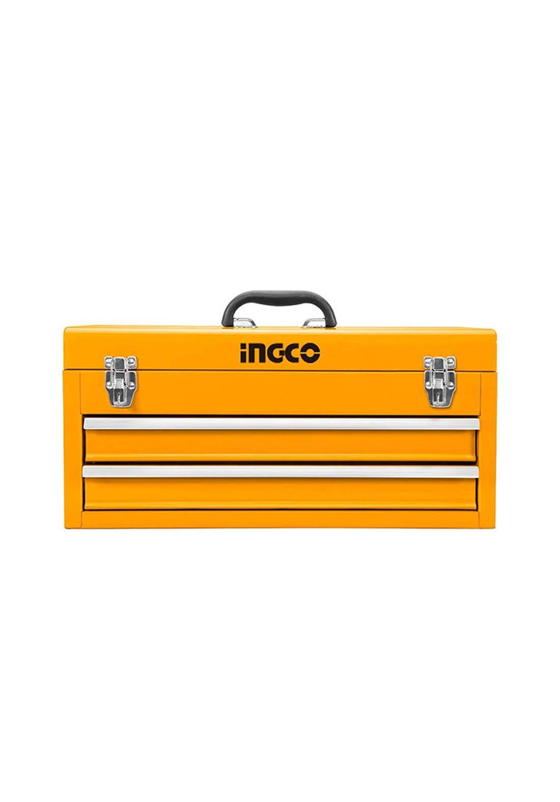 Ingco HTB06 Metal Tool Box Yallow  صندوق حفظ وتنظيم العُدد