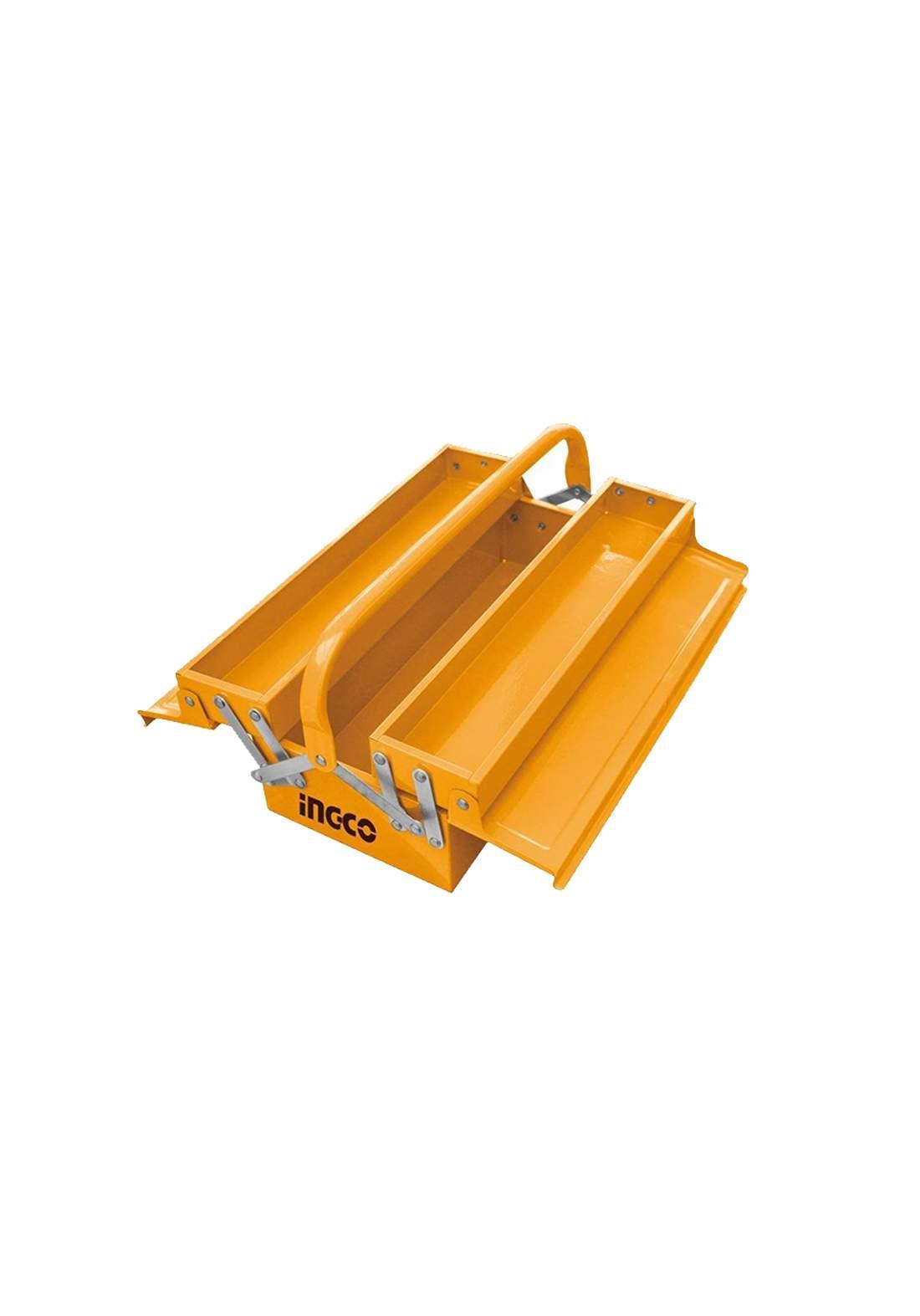 Ingco HTB04 Metal Tool Box Yallow  صندوق حفظ وتنظيم العُدد