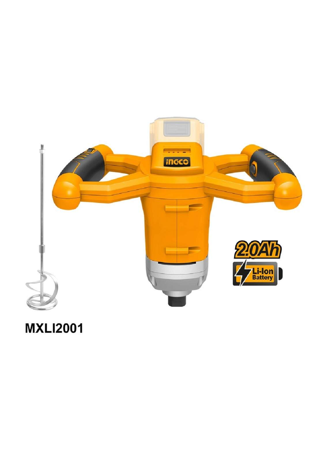 INGCO MXLI2001 lithium 1400W PAINT MIXER دريل خبط شحن 20فولت