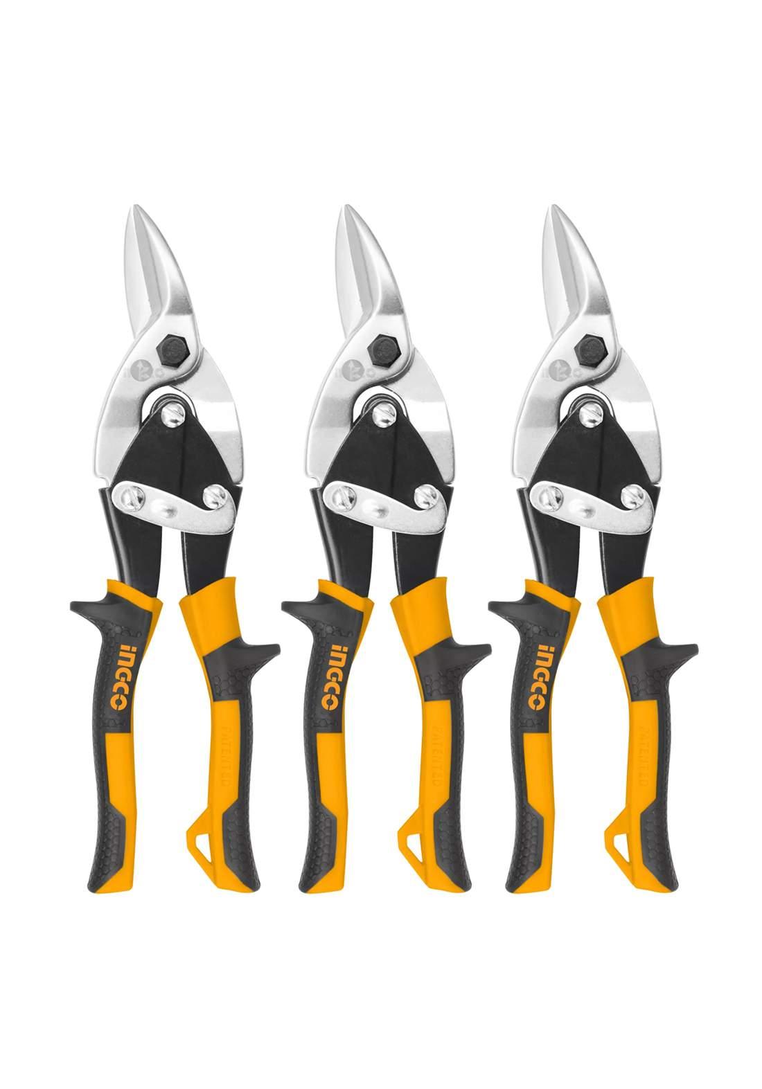 Ingco HTSNk0110 Cutting Tin Snips Set 3 Pcs 300 mm مقص بليت