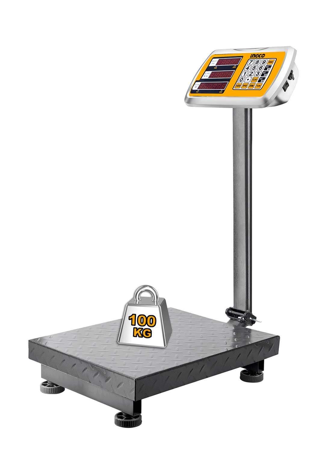 Ingco HESA31003 Electronic Scale 100 kg ميزان عمودي الكتروني