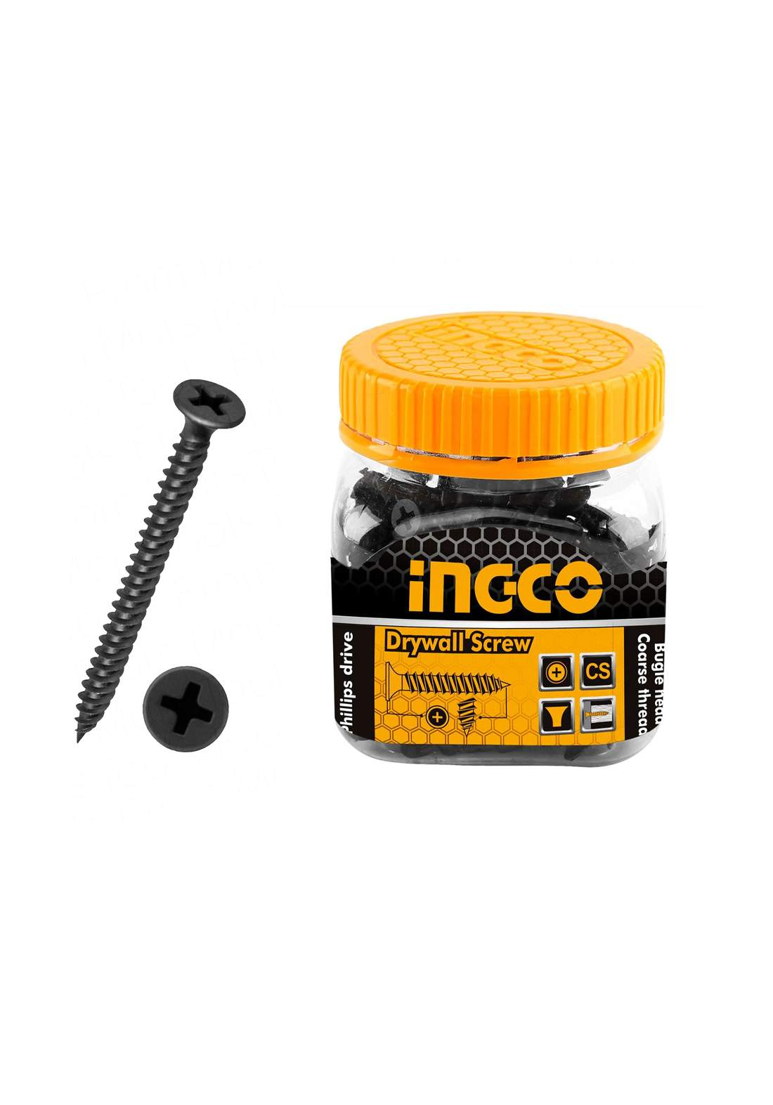 Ingco HWDS3503821 Drywall screw ST3.5 * 35 mm علبة براغي